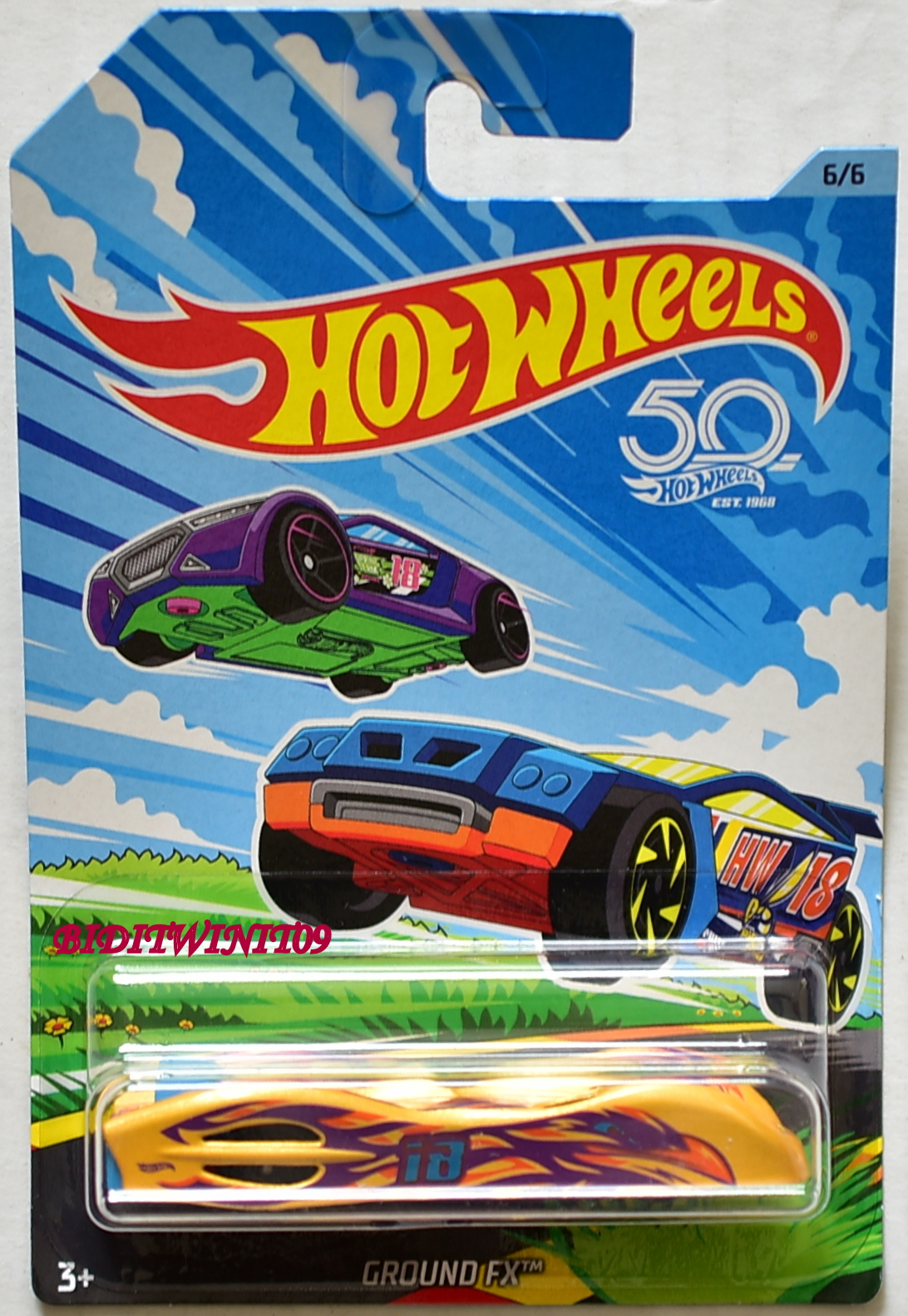 HOT WHEELS 2018 50TH ANNIVERSARY GROUND FX #6/6