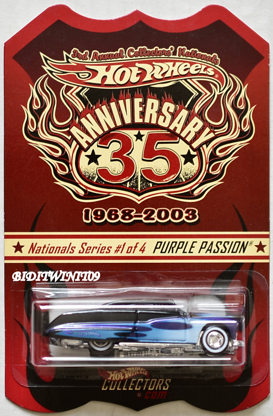 HOT WHEELS 2003 35TH ANNIVERSARY NATIONALS CONVENTION PURPLE PASSION #1/4 E+