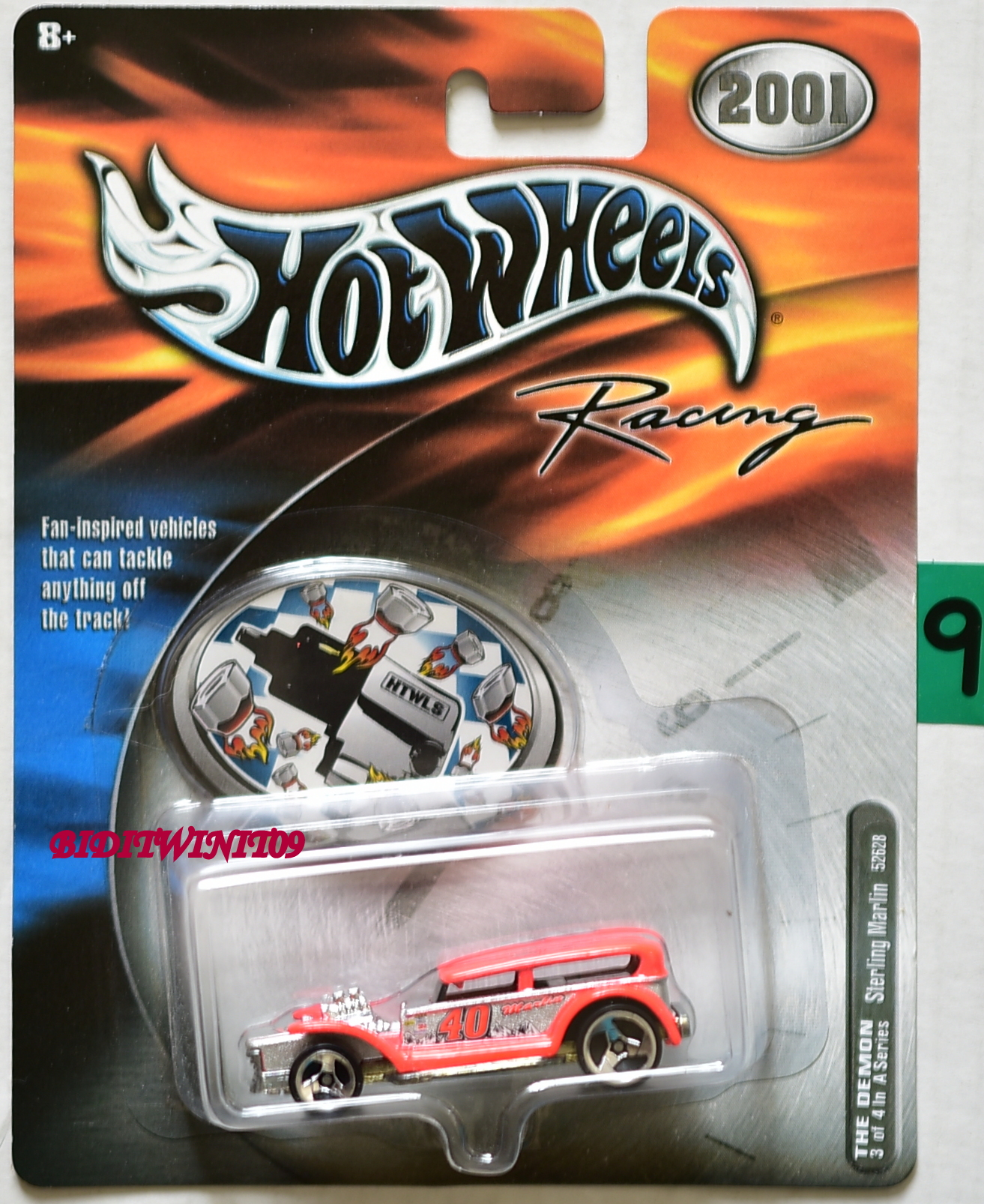 2001 HOT WHEELS RACING THE DEMON #3/4 STERLING MARLIN E+