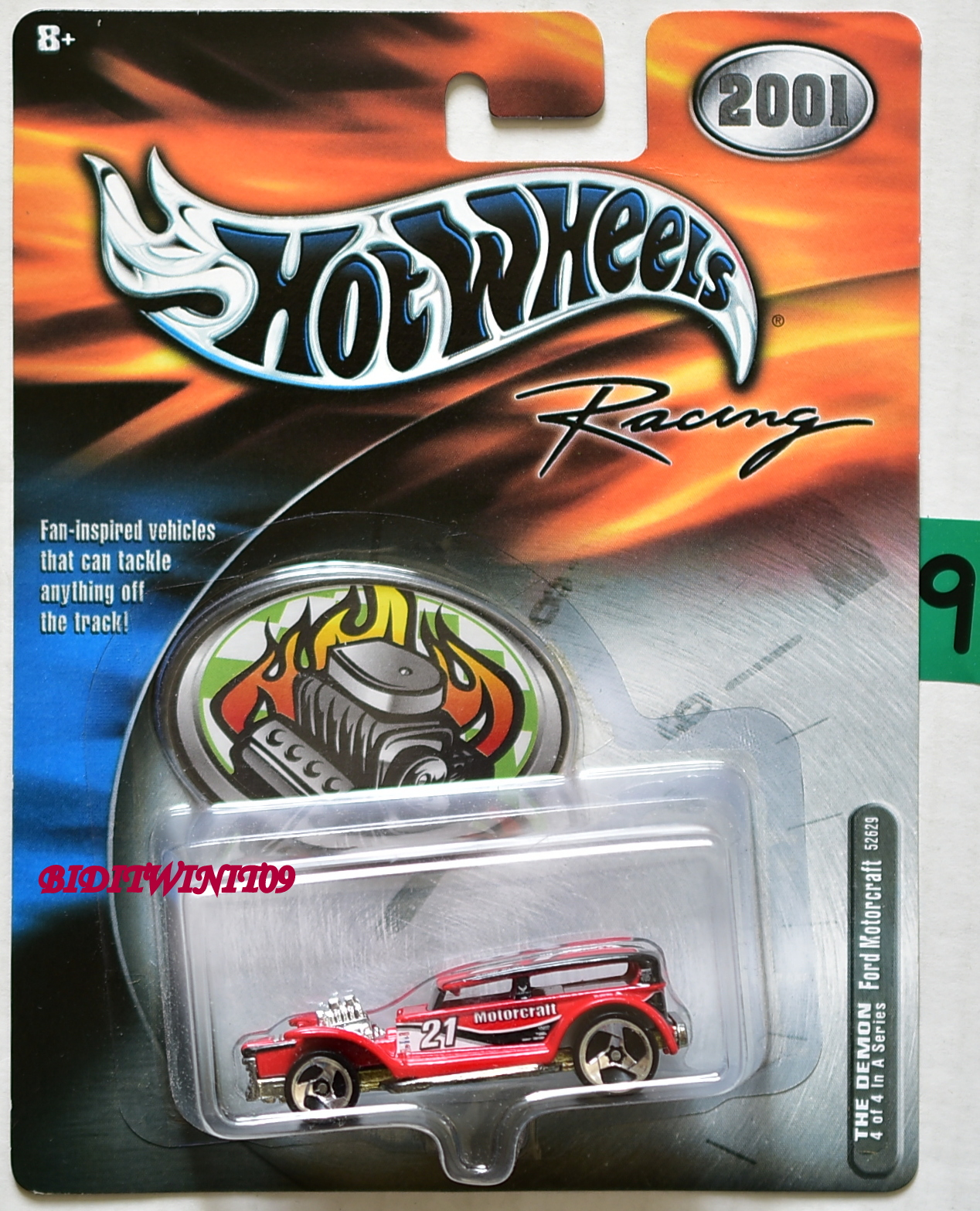 2001 HOT WHEELS RACING THE DEMON #4/4 FORD MOTORCRAFT E+
