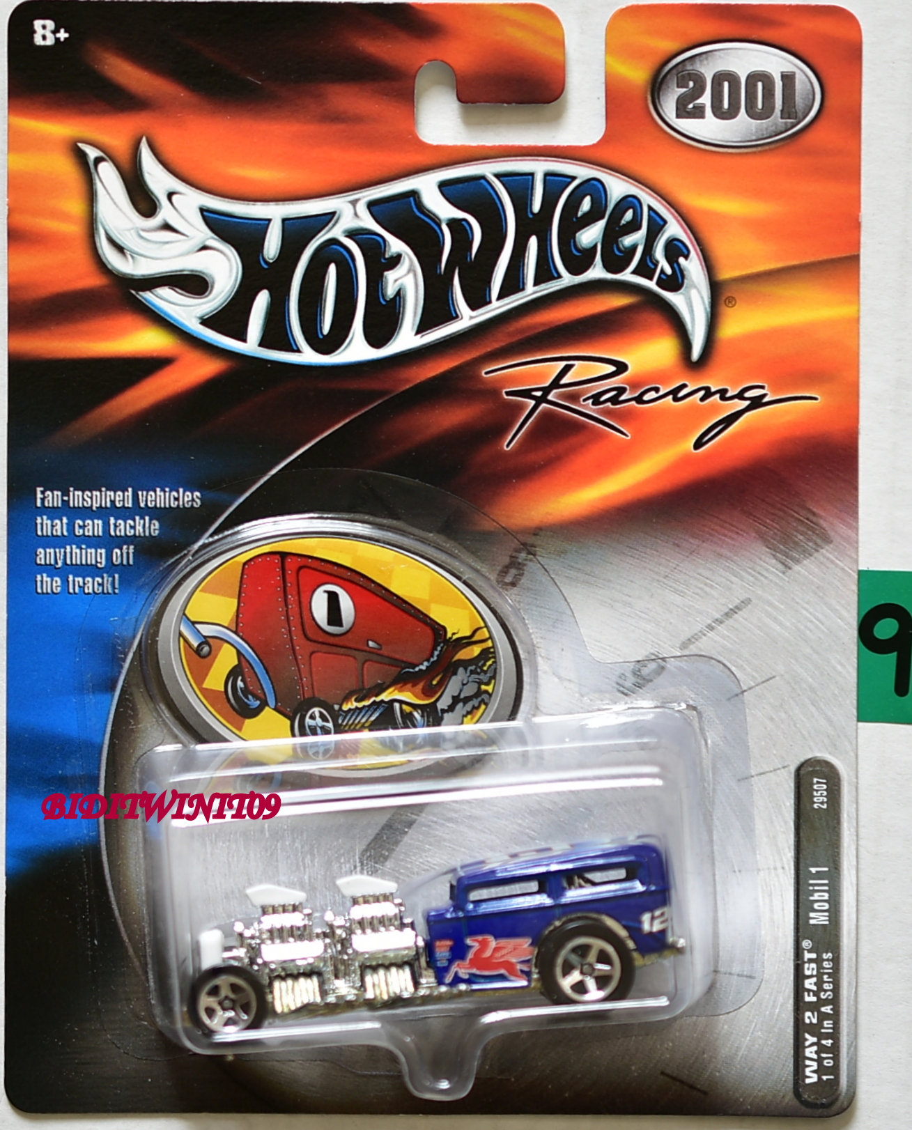 HOT WHEELS 2001 RACING WAY 2 FAST MOBIL 1 #1/4 E+