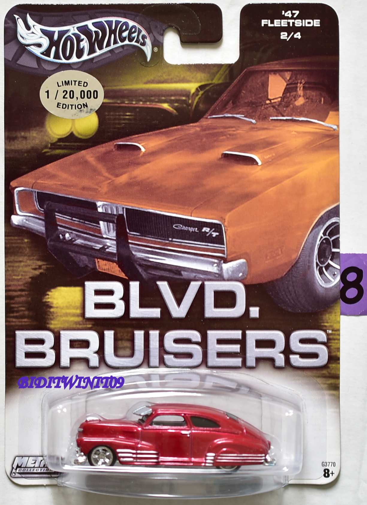 HOT WHEELS BLVD. BRUISERS '47 FLEETSIDE #2/4 RED E+