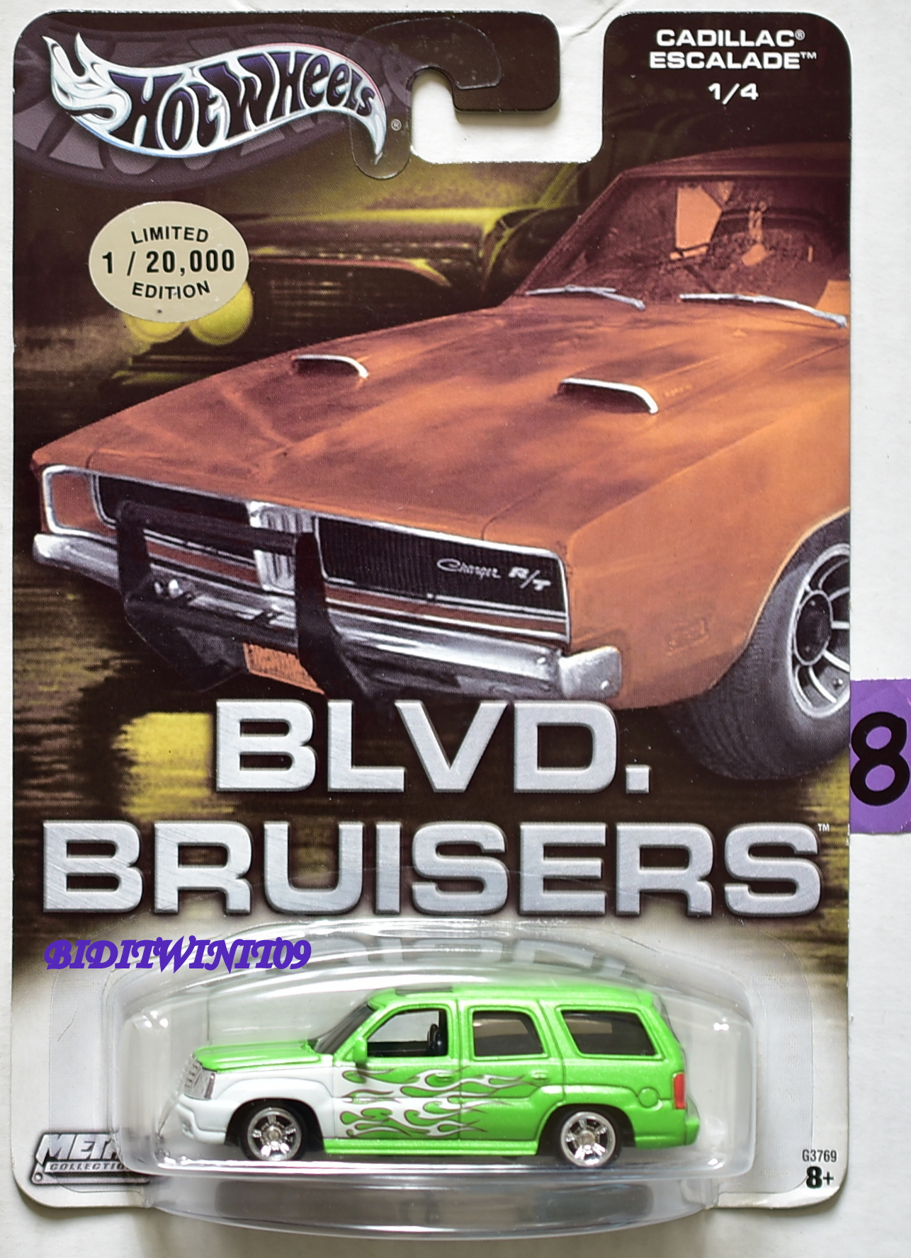 HOT WHEELS BLVD. BRUISERS CADILLAC ESCALADE #1/4 GREEN E+
