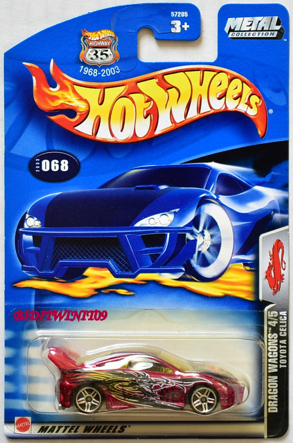 HOT WHEELS 2003 DRAGON WAGONS TOYOTA CELICA #068 - Click Image to Close