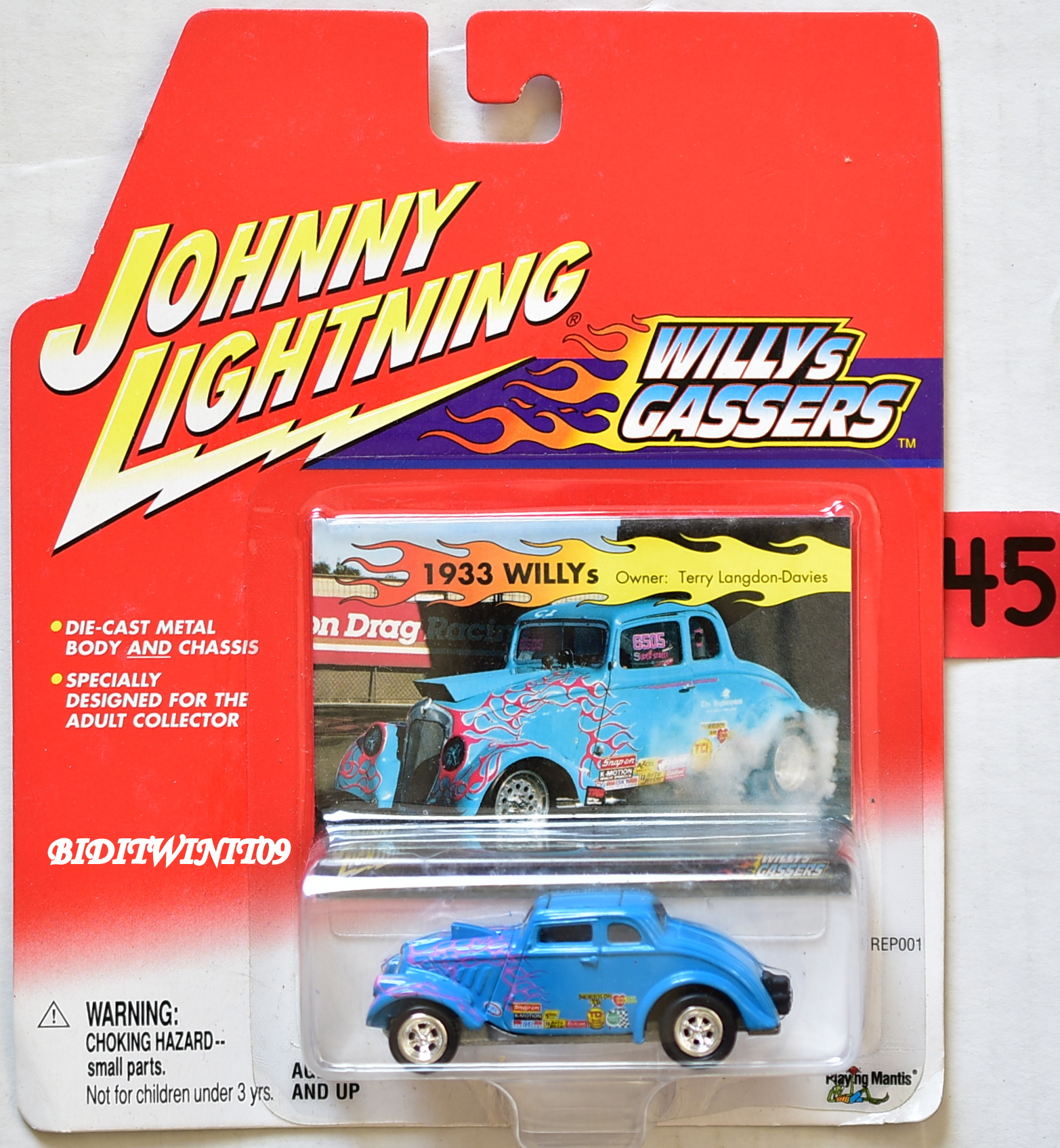 JOHNNY LIGHTNING WILLYS GASSERS 1933 WILLYS