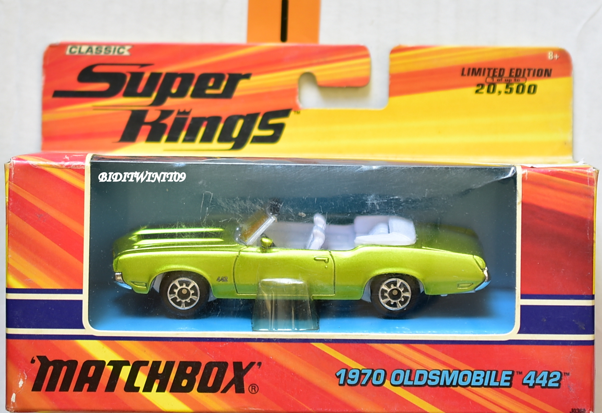 MATCHBOX CLASSIC SUPERKINGS 1970 OLDSMOBILE 442 GREEN LIMITED EDITION E+