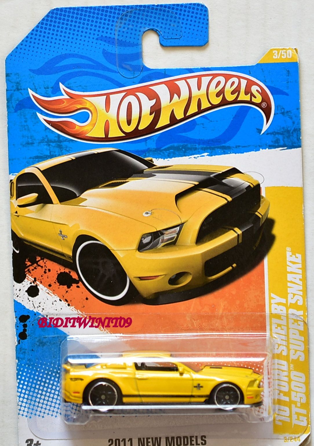 HOT WHEELS 2011 NEW MODELS '10 FORD SHELBY GT-50 SUPER SNAKE YELLOW E+