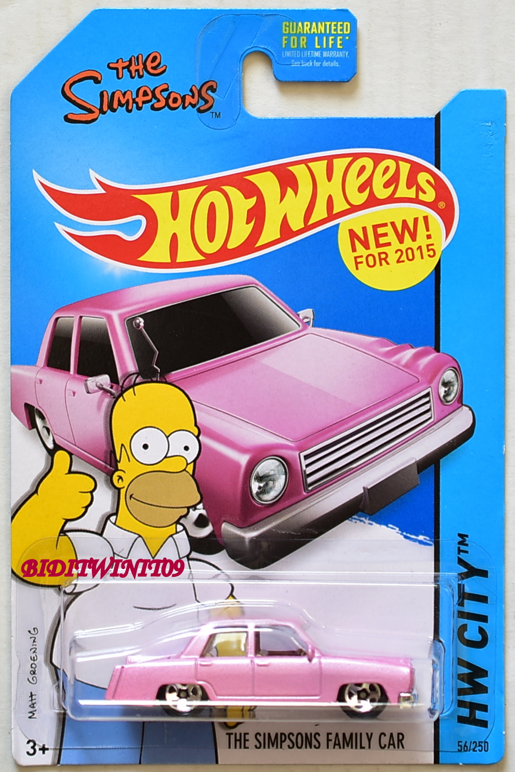 HOT WHEELS 2015 HW CITY - TOONED THE SIMPSONS FAMILY CAR