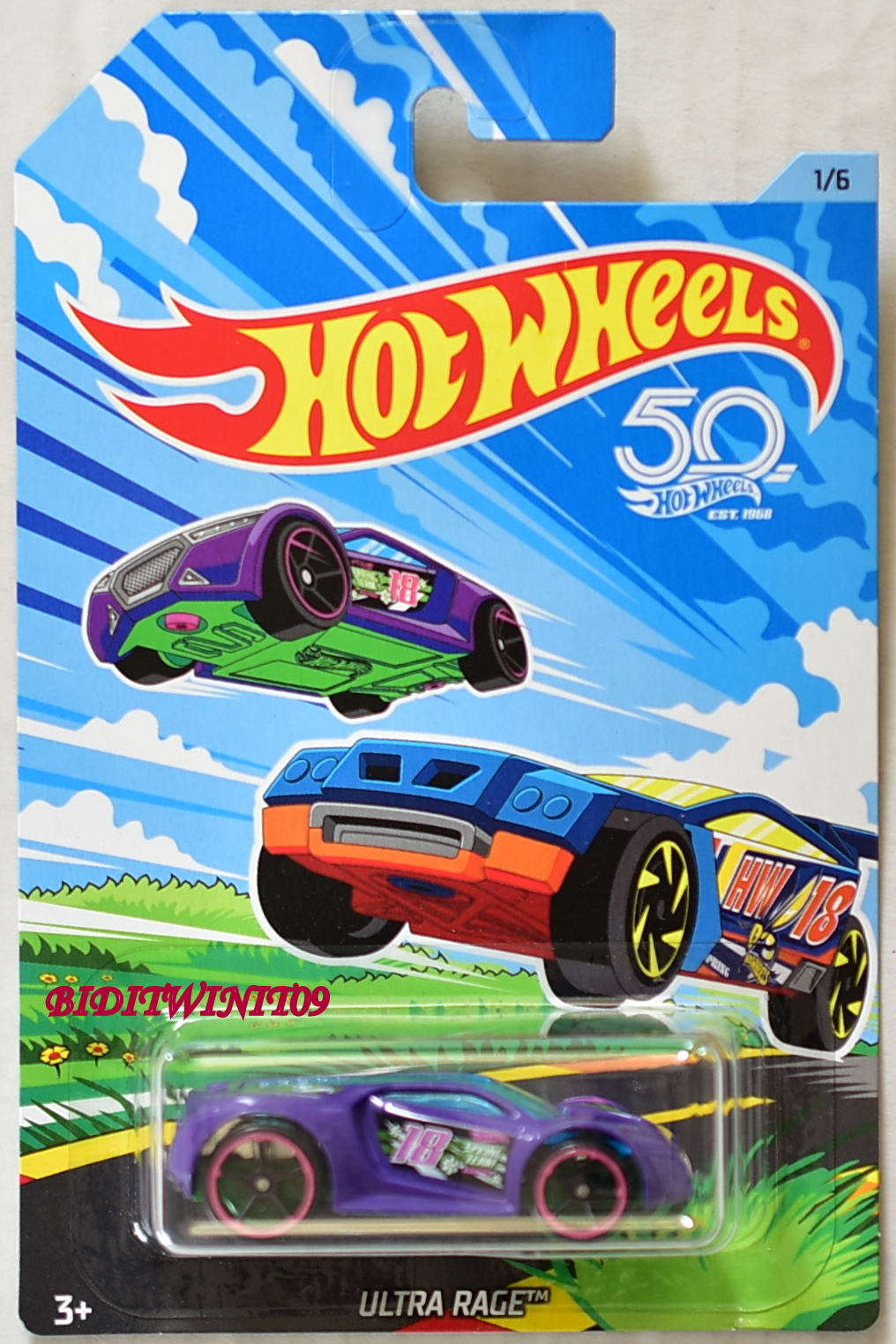 HOT WHEELS 2018 50TH ANNIVERSARY ULTRA RACE #1/6