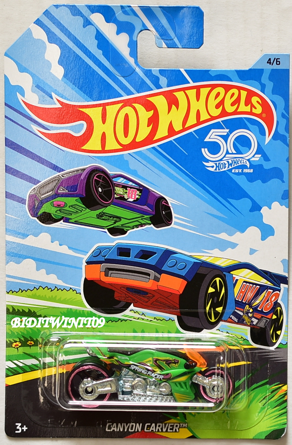 HOT WHEELS 2018 50TH ANNIVERSARY CANYON CARVER