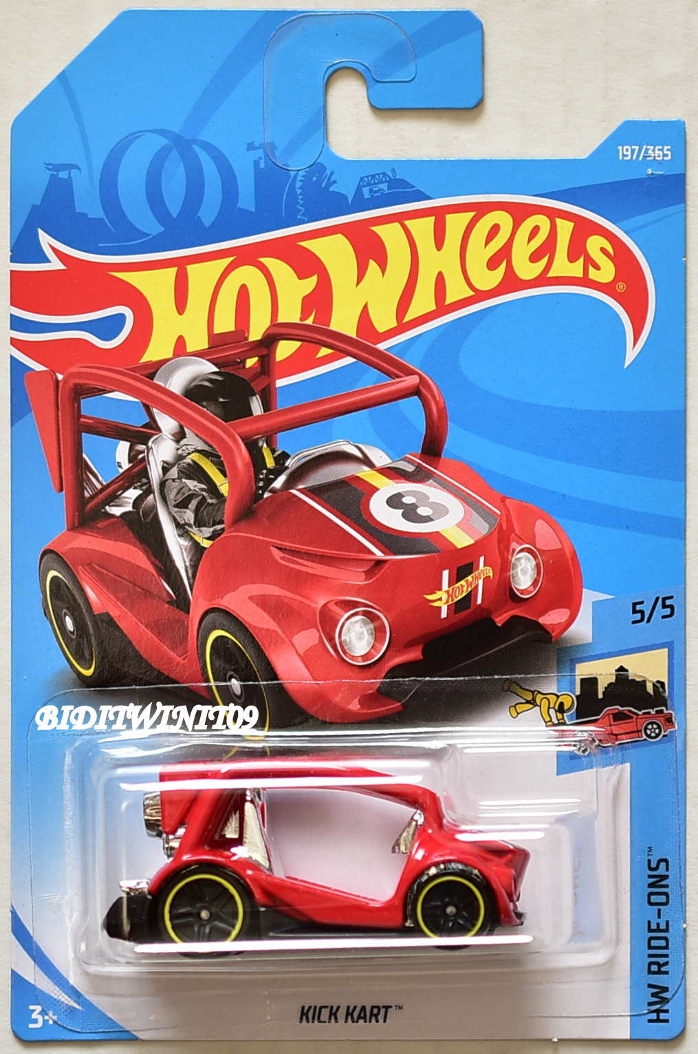 ons kart HOT WHEELS 2018 HW RIDE ONS KICK KART #5/5 RED [0010350]   $1.40  ons kart