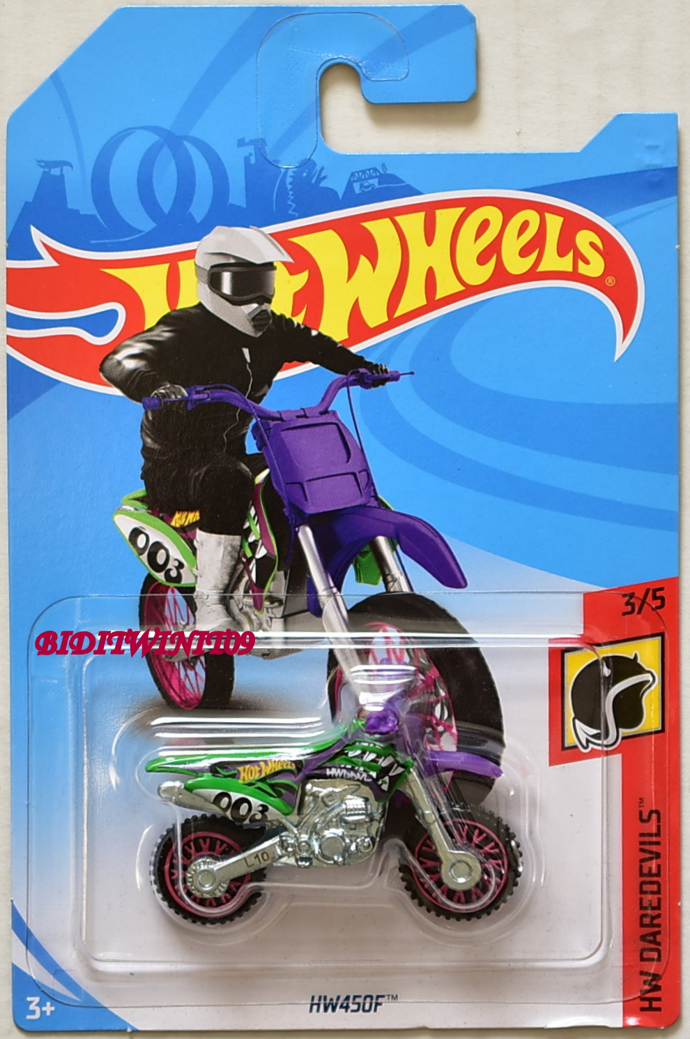 HOT WHEELS 2018 HW DAREDEVILS HW450F #3/5 PURPLE