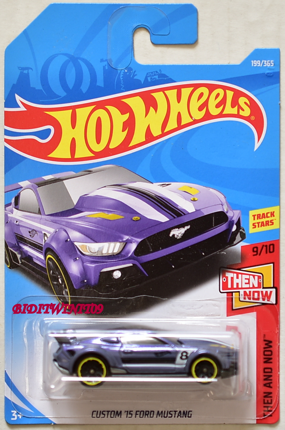 Hot Wheels 2018 #096//365 CUSTOM 2015 FORD MUSTANG red HW Then and now