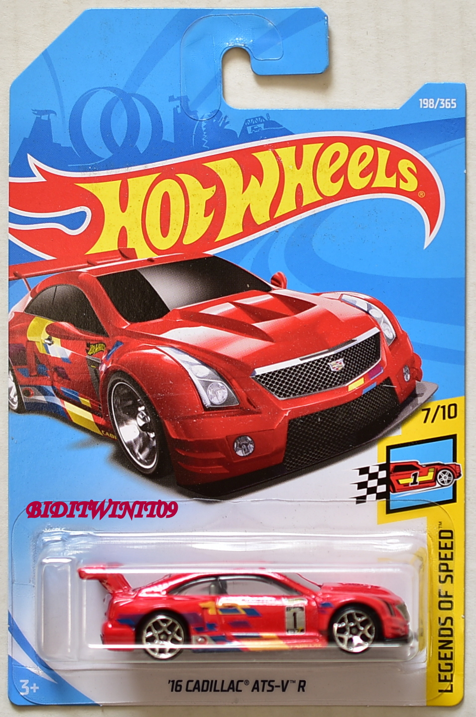 HOT WHEELS 2018 LEGENDS OF SPEED '16 CADILLAC ATS-V R #7/10 RED