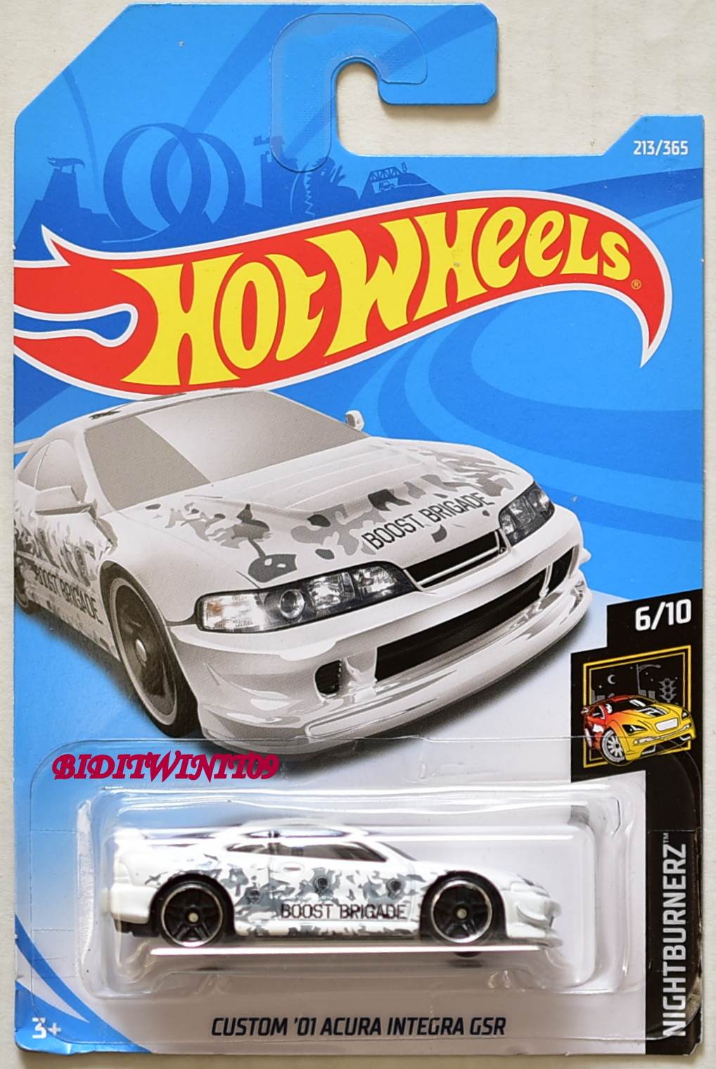 Hot Wheels 2018 Nightburnerz Custom 01 Acura Integra Gsr White 0010333 1 81 Biditwinit09 Com Classic Colections