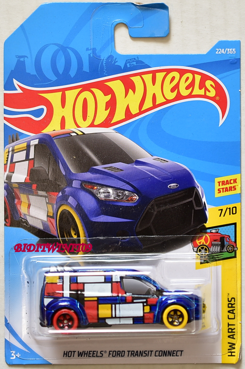HOT WHEELS 2018 HW ART CARS HOT WHEELS FORD TRANSIT CONCEPT BLUE