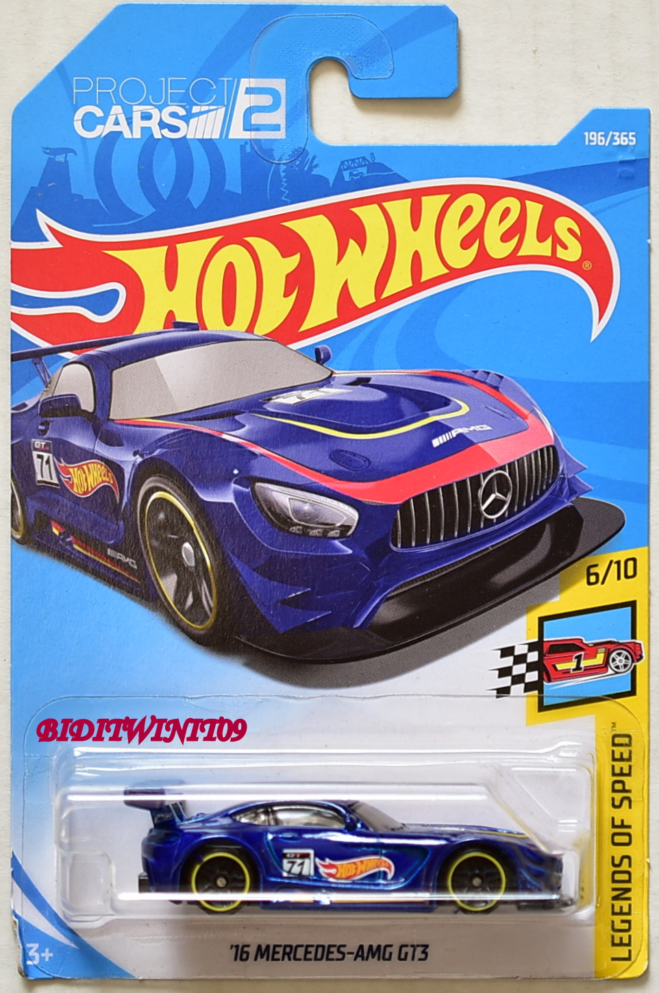 HOT WHEELS 2018 LEGENDS OF SPEED '16 MERCEDES-AMG GT3 BLUE