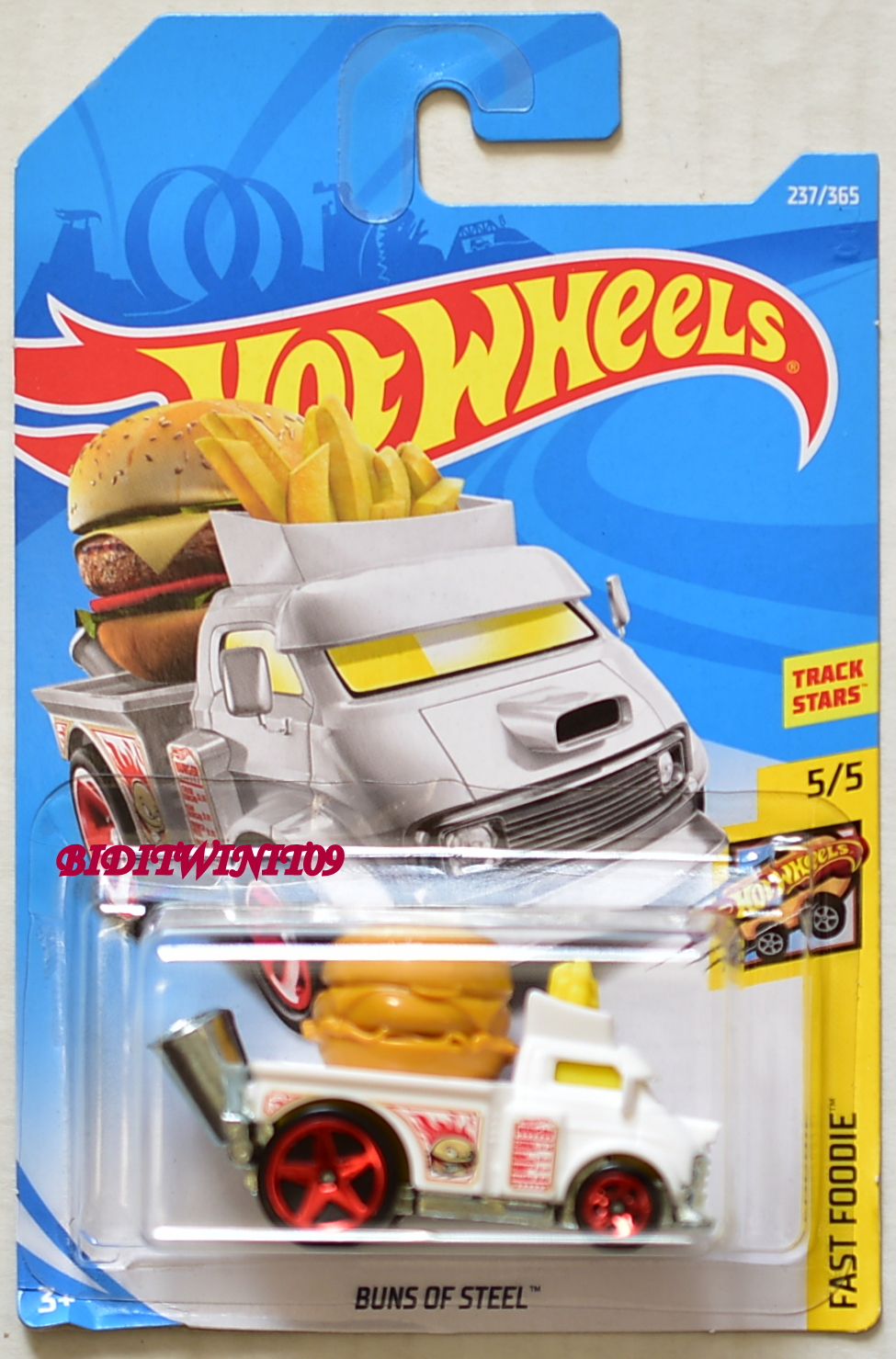 HOT WHEELS 2018 FAST FOODIE BUNS OF STEEL #5/5 WHITE