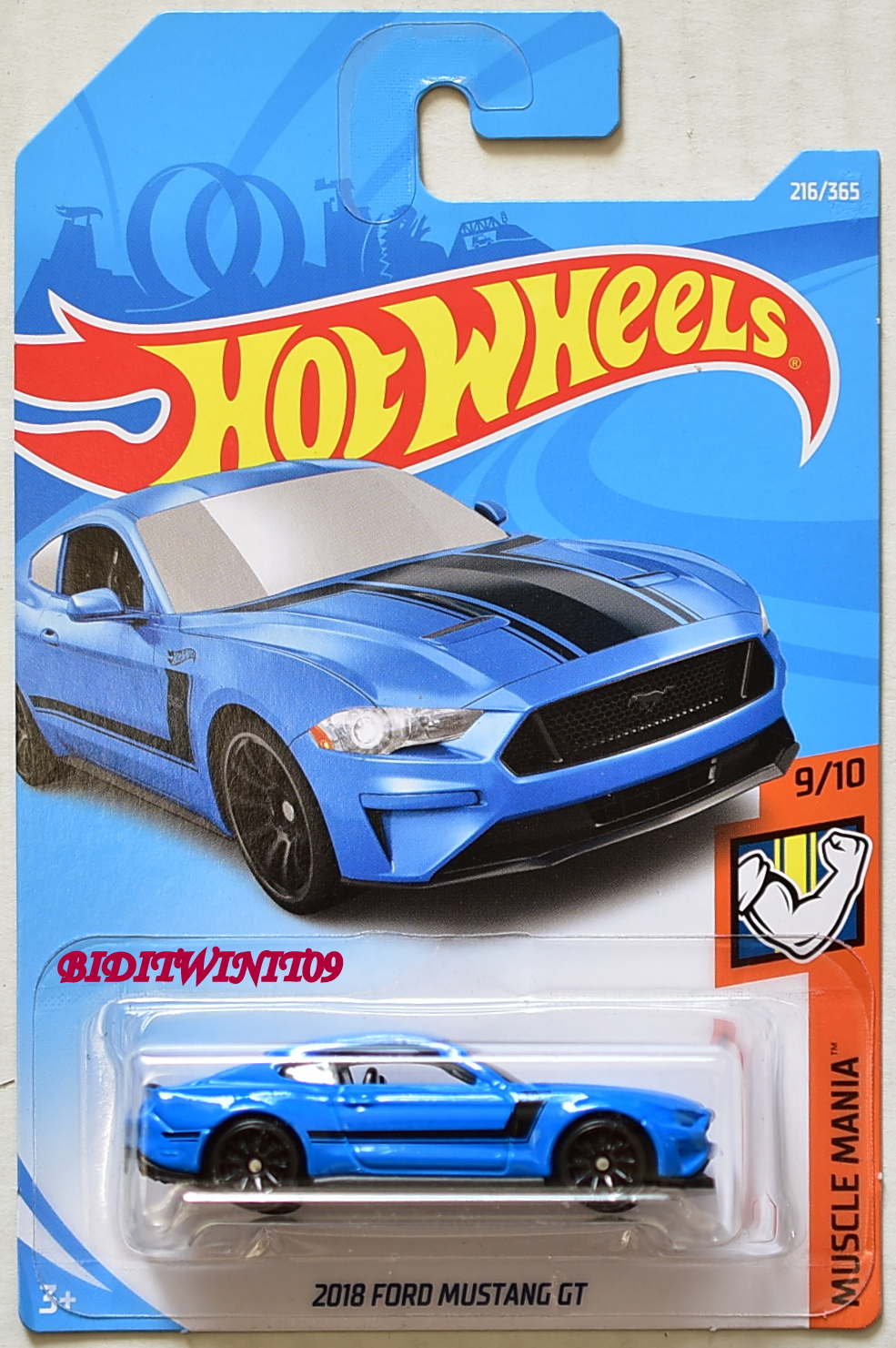 Hot Wheels 2018 Muscle Mania 2018 Ford Mustang Gt Blue