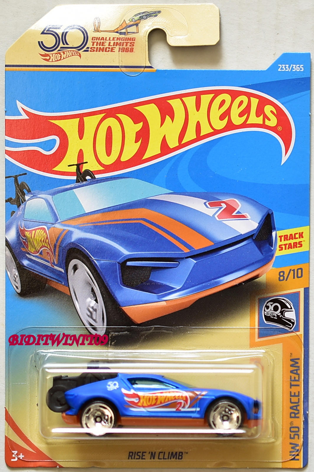 HOT WHEELS 2018 HW 50TH RACE TEAM RISE'N CLIMB BLUE