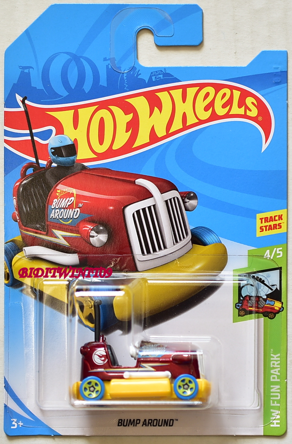 HOT WHEELS 2018 REGULAR TREASURE HUNT - HW FUN PARK BUMP AROUND