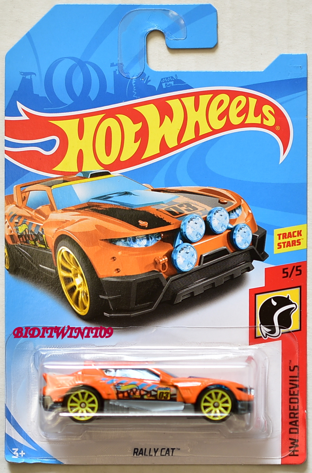 HOT WHEELS 2018 HW DAREDEVILS RALLY CAT ORANGE