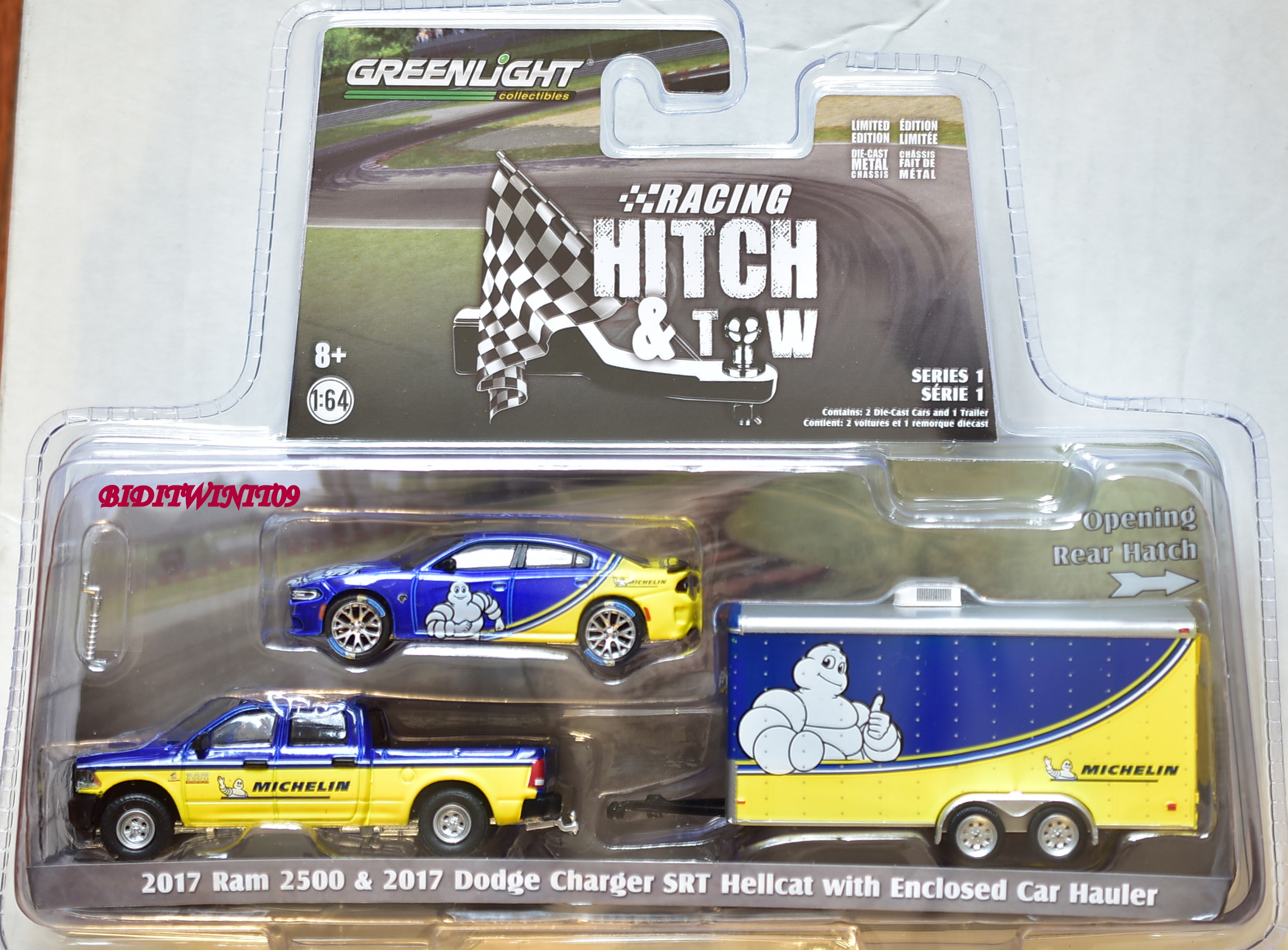 GREENLIGHT 2017 RAM 2500 & 2017 DODGE CHARGER SRT HELLCAT WITH CAR HAULER