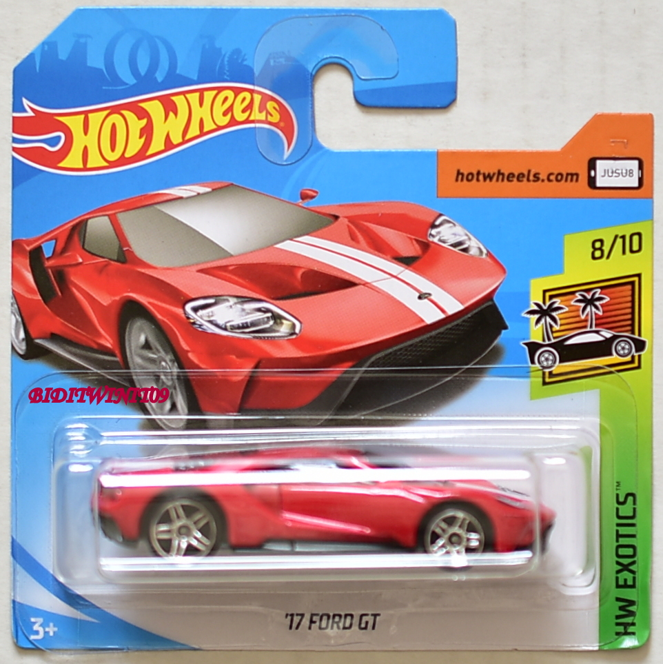Hot Wheels  Hw Exotics  Ford Gt   Red Short Card