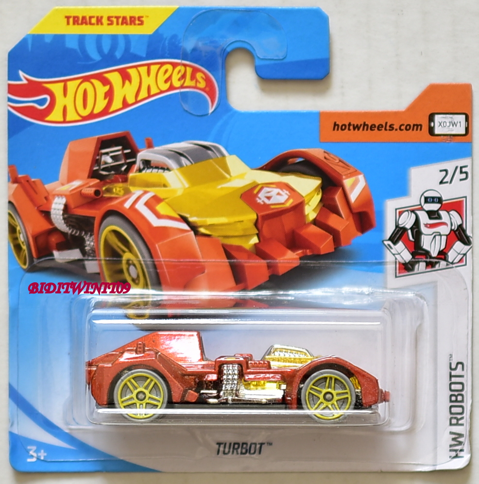 HOT WHEELS 2018 HW ROBOTS TURBOT #2/5 SHORT CARD