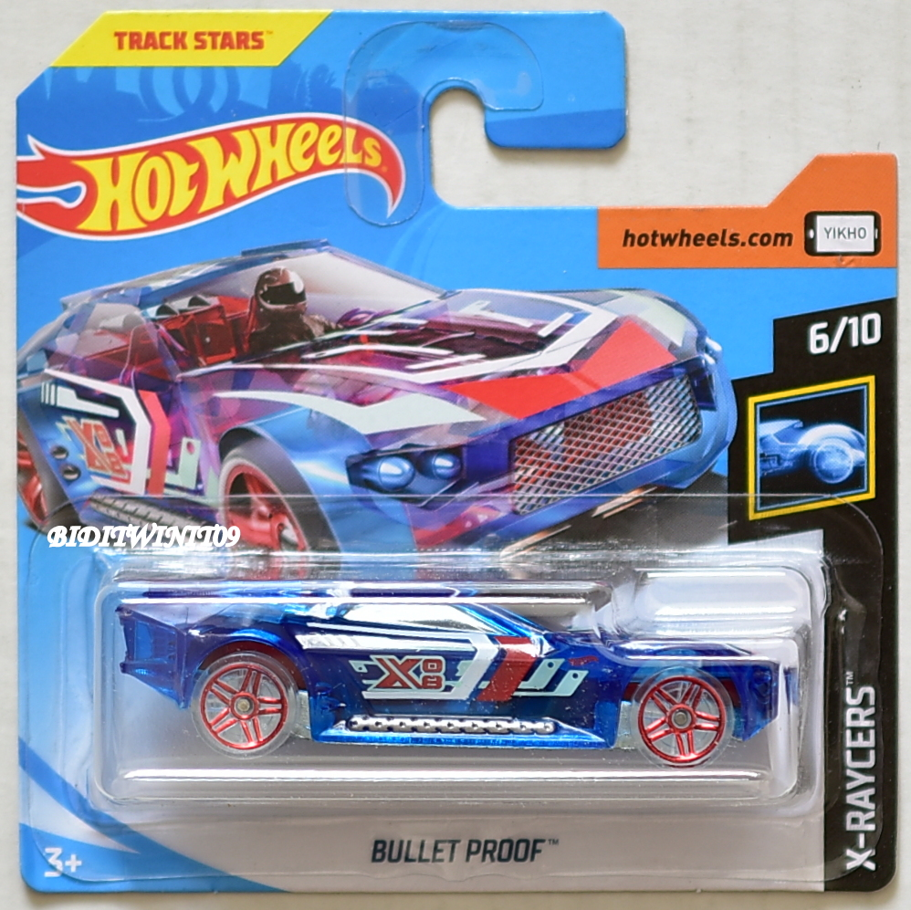 HOT WHEELS 2018 X-RAYCERS BULLET PROOF BLUE SHORT CARD