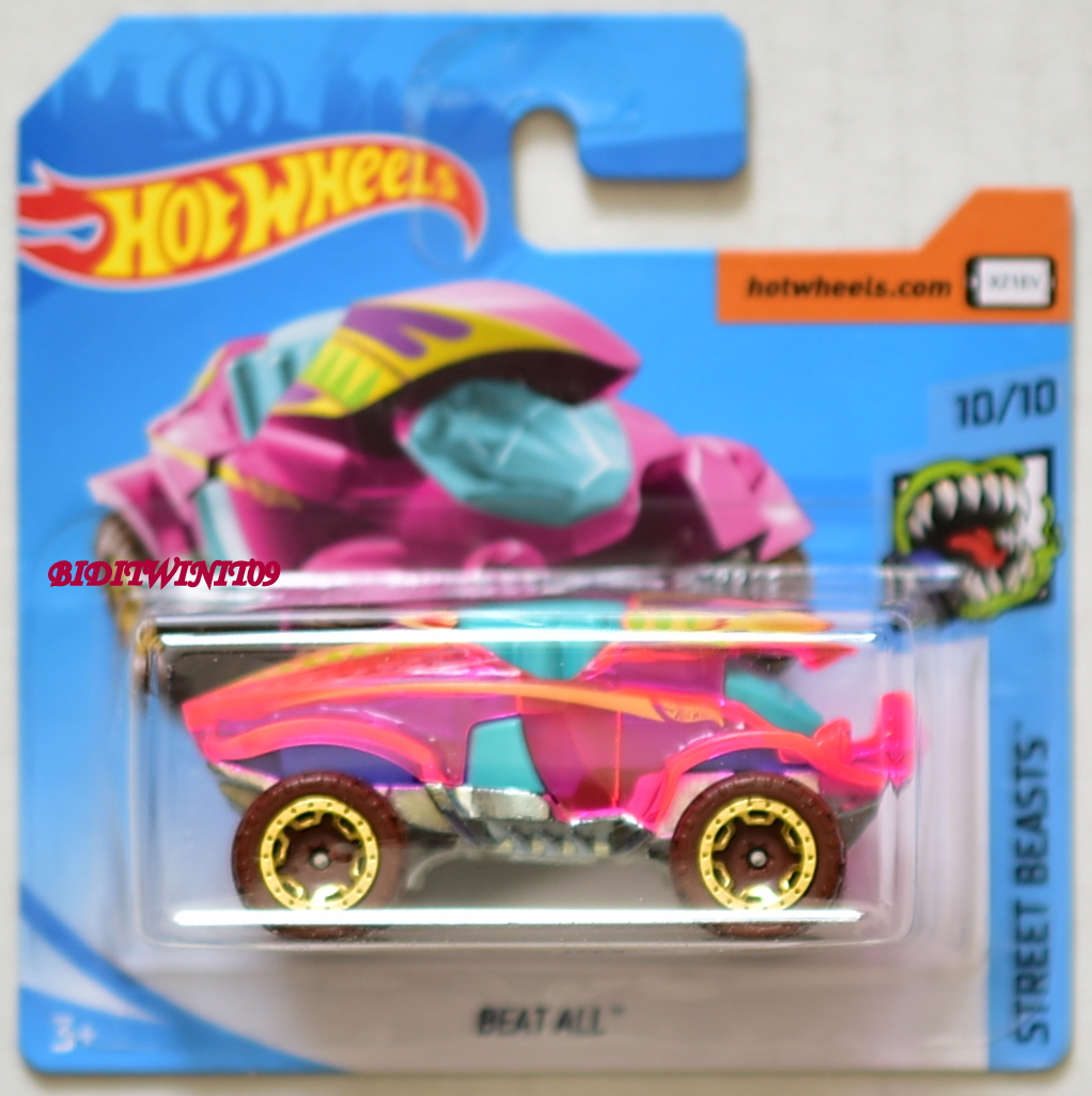 HOT WHEELS 2018 STREET BEASTS BEAT ALL #10/10 PINK SHORT CARD