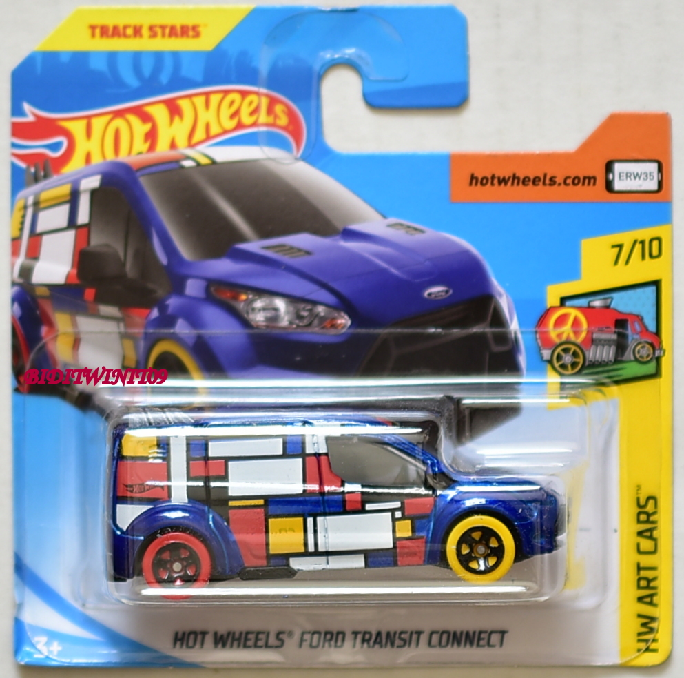 Hot Wheels 2018 Hw Art Cars Hot Wheels Ford Transit Connect Blue