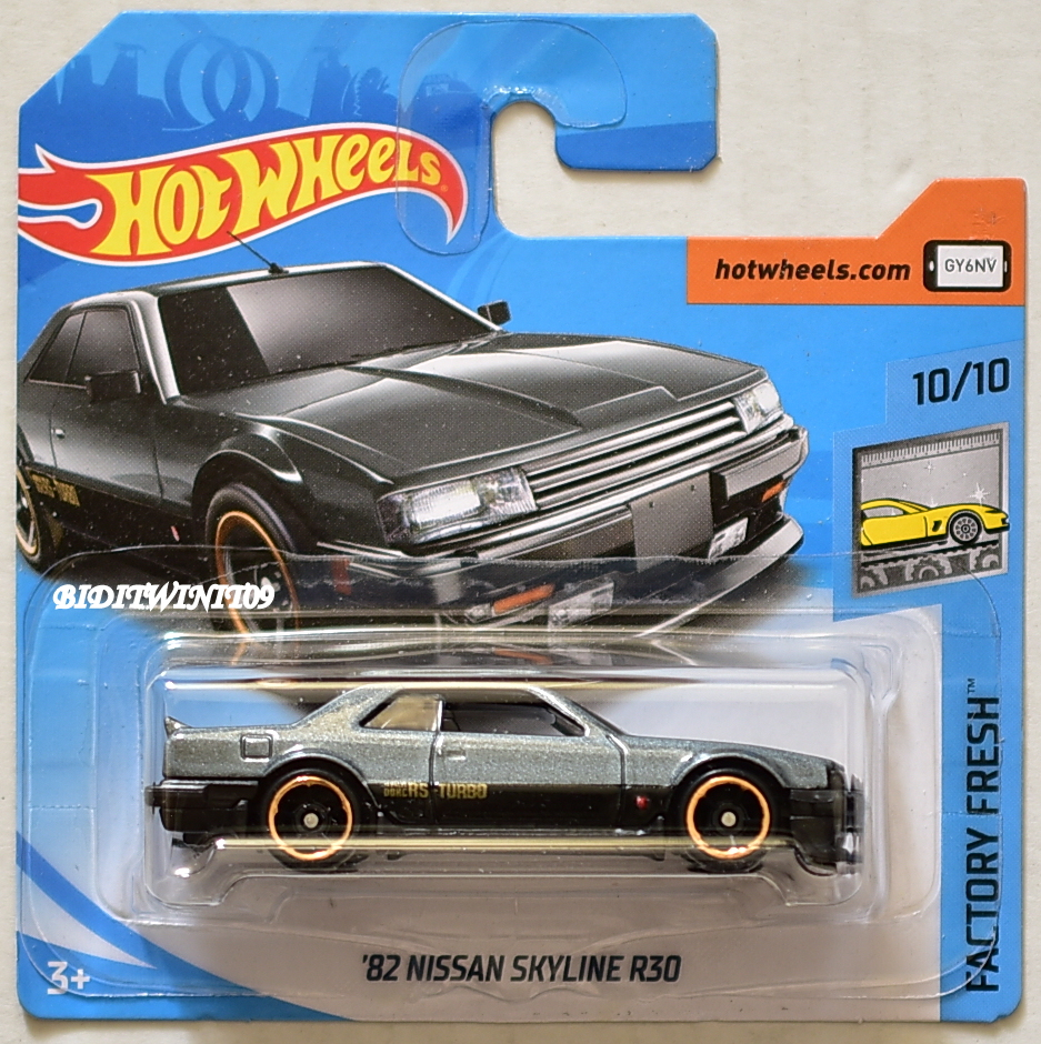 HOT WHEELS 2018 FACTORY FRESH '82 NISSAN SKYLINE R30 GREY SHORT CARD