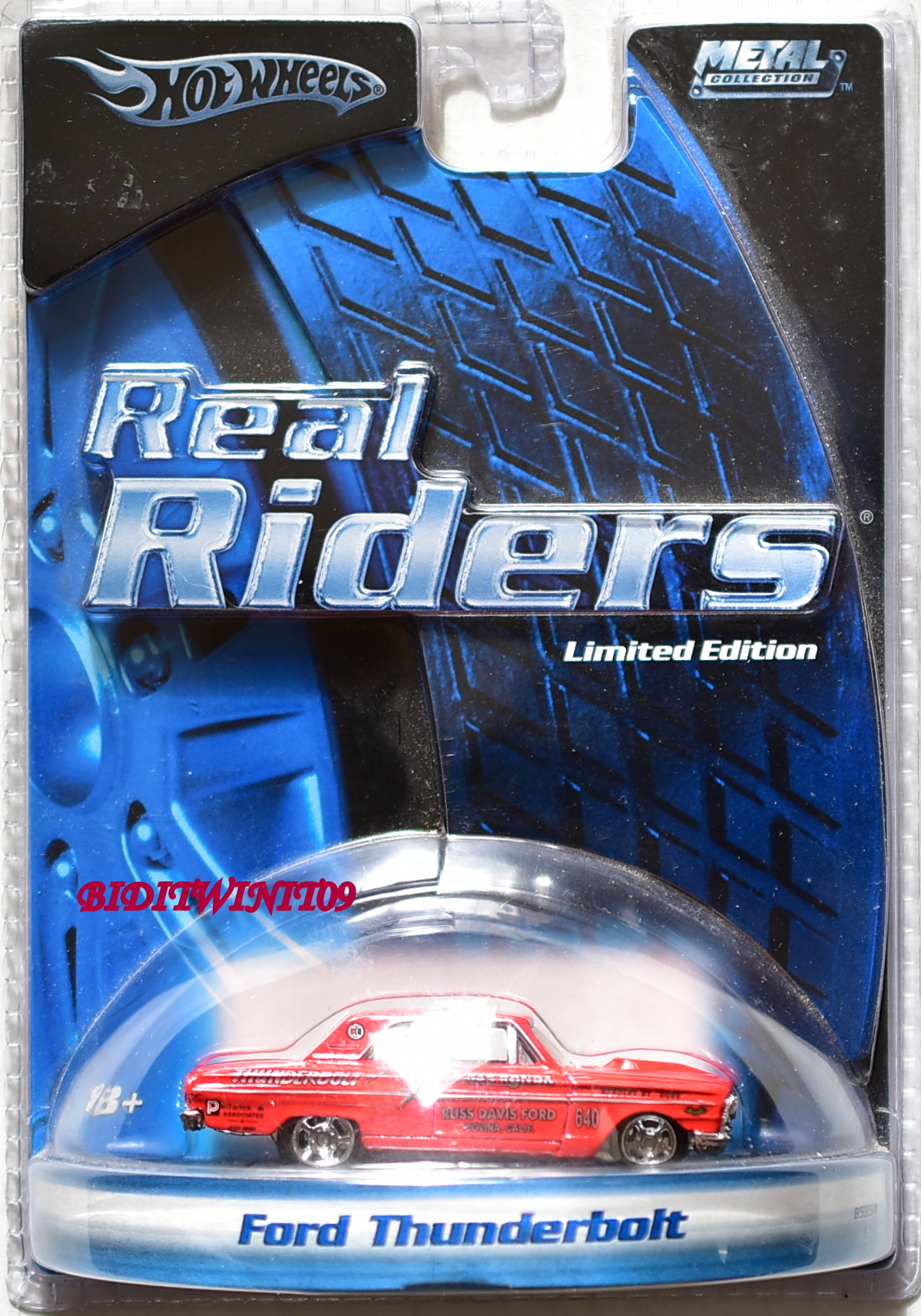 HOT WHEELS REAL RIDERS FORD THUNDERBOLT LIMITED EDITION RED E+