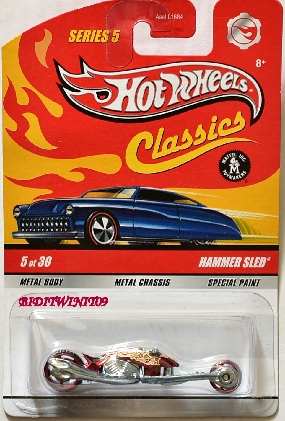 HOT WHEELS CLASSICS SERIES 5 #5/30 HAMMER SLED RED