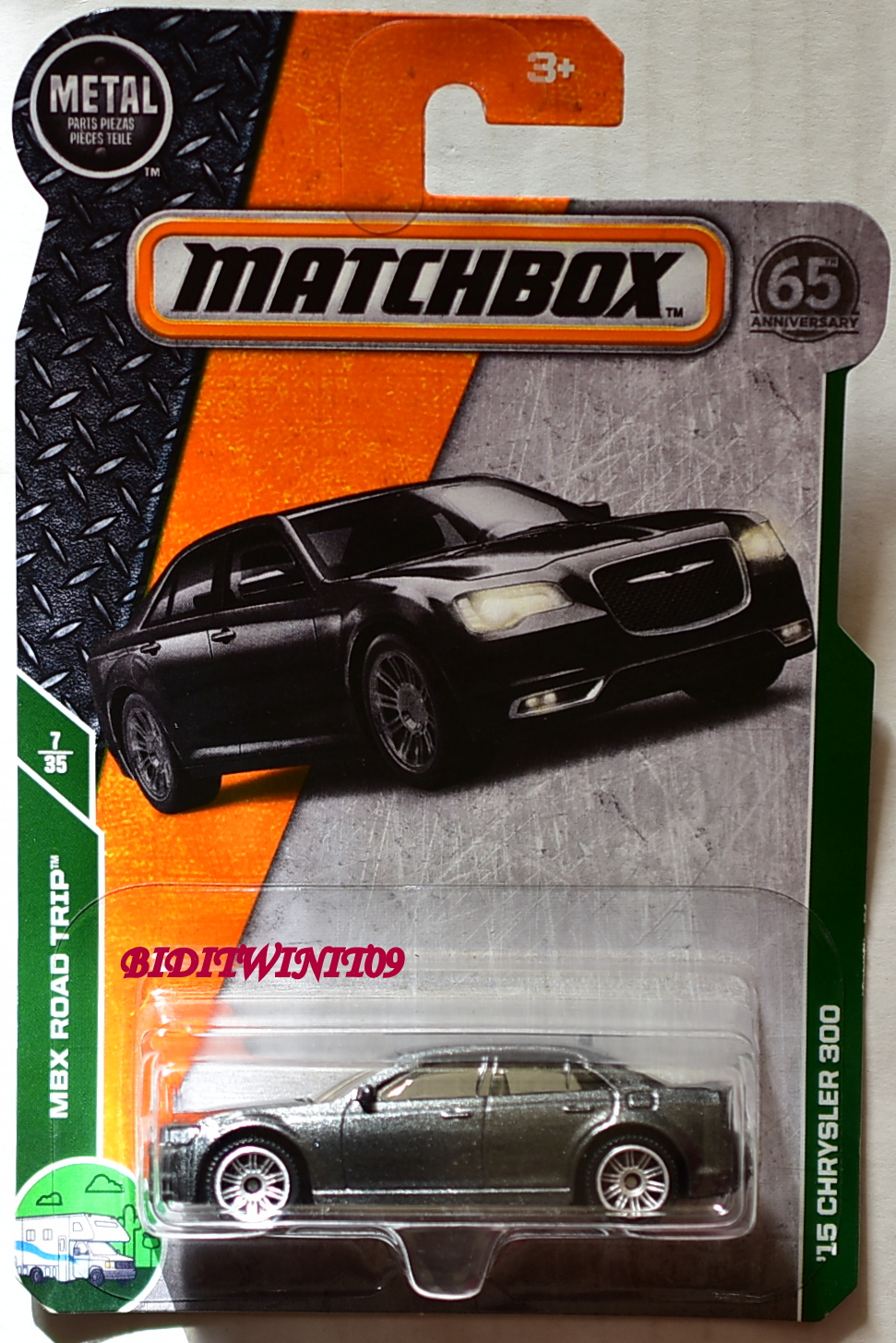 MATCHBOX 2018 MBX ROAD TRIP '15 CHRYSLER 300 GREY