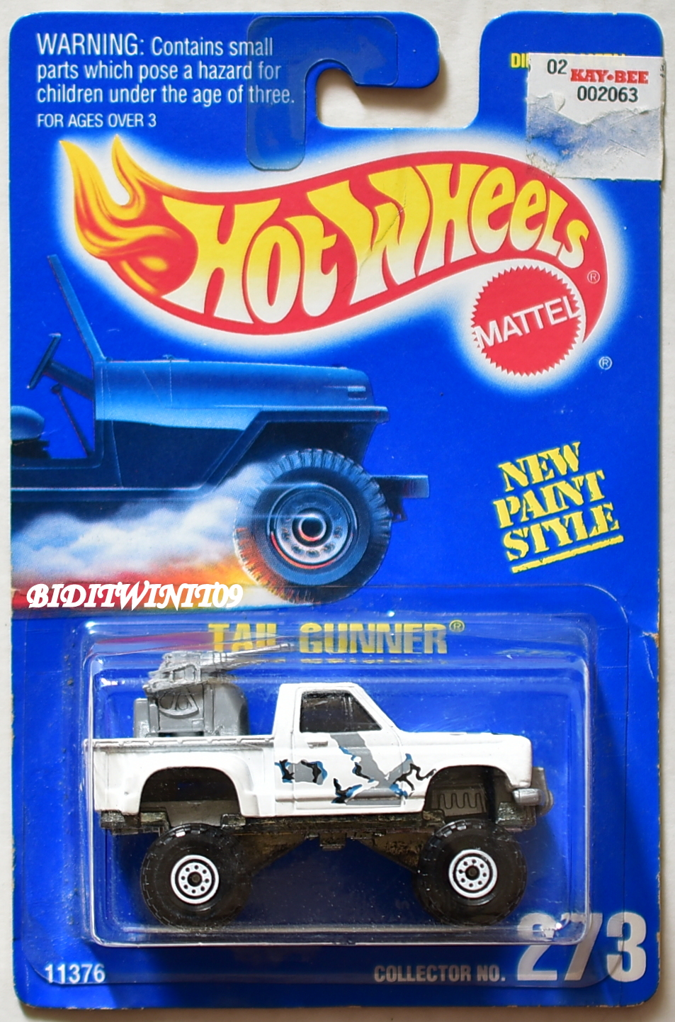 HOT WHEELS 1991 BLUE CARD TAIL GUNNER