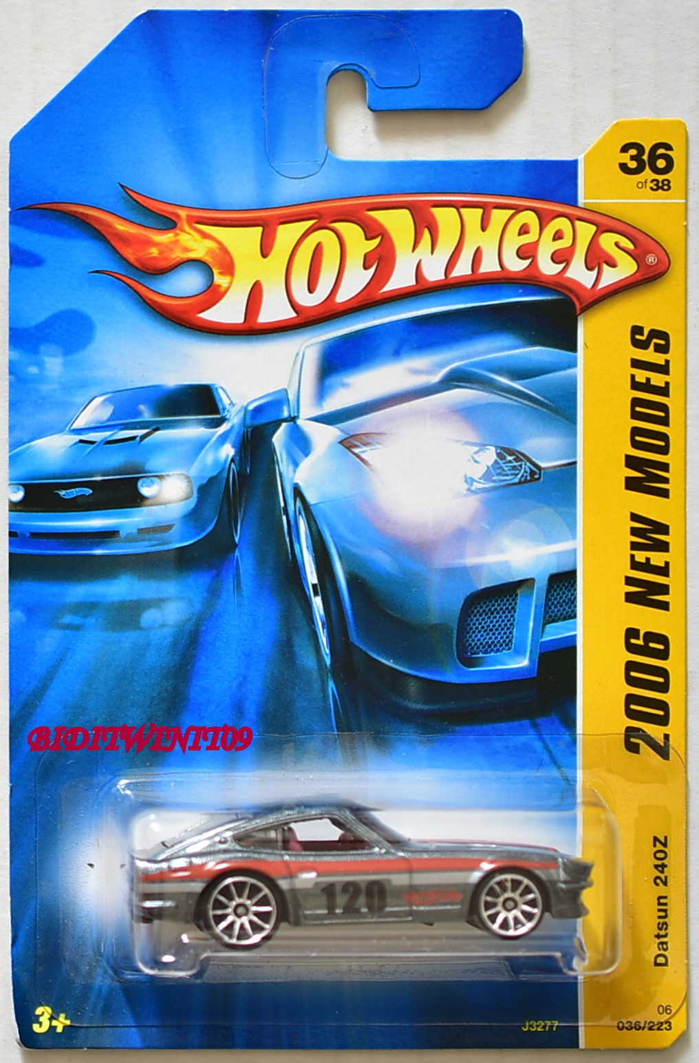HOT WHEELS 2006 NEW MODELS DATSUN 240Z GREY E+