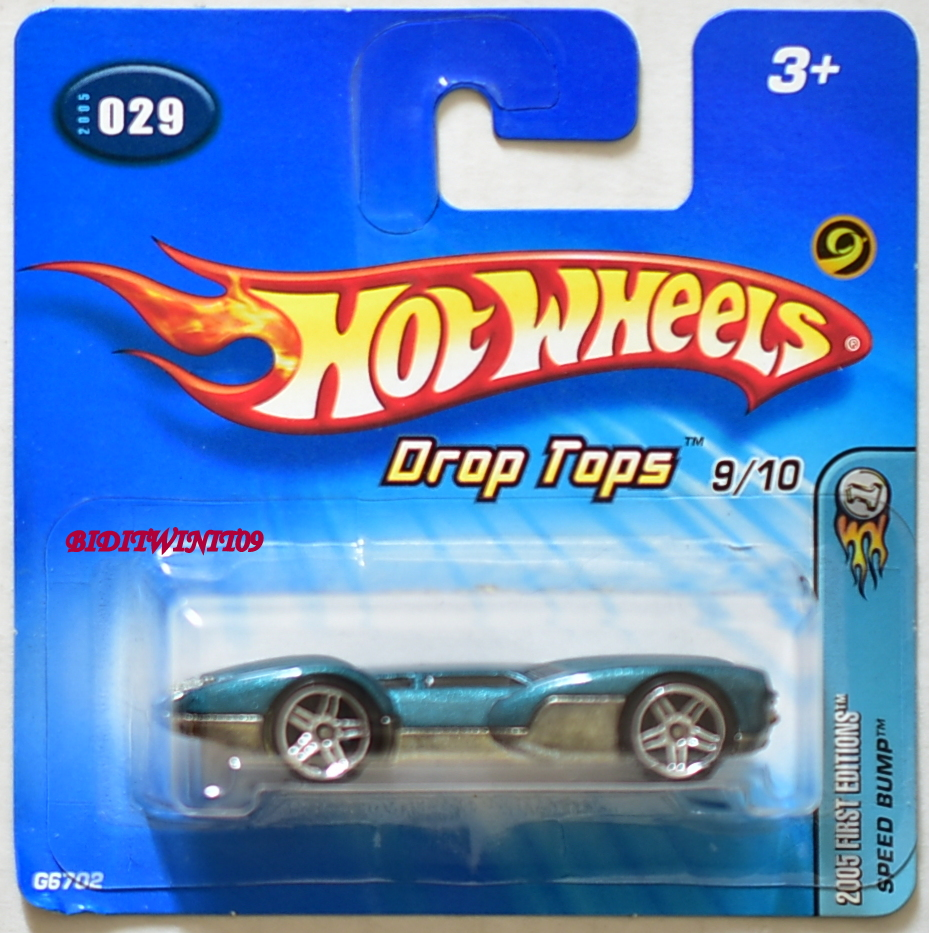 HOT WHEELS 2005 FIRST EDITIONS SPEED BUMP DROP TOPS SHORT CARD E+