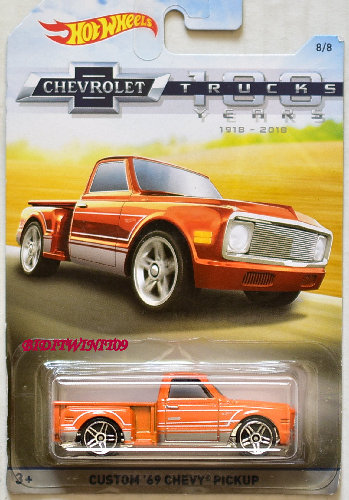 HOT WHEELS 2018 CHEVROLET TRUCKS CUSTOM '62 CHEVY PICKUP PAINT VARIATION E+
