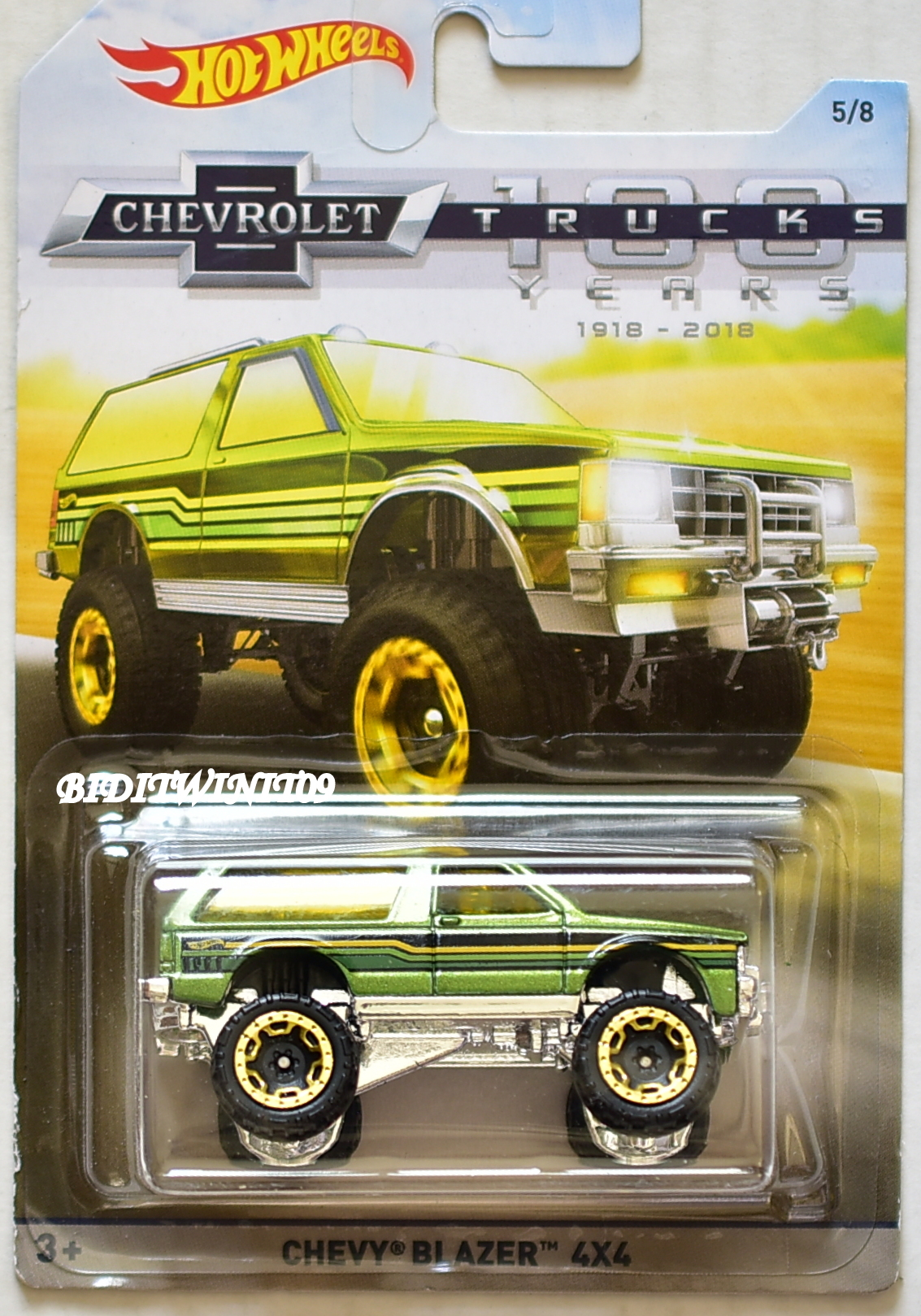 HOT WHEELS 2018 CHEVROLET TRUCKS 100 YEARS CHEVY BLAZER 4X4 GREEN