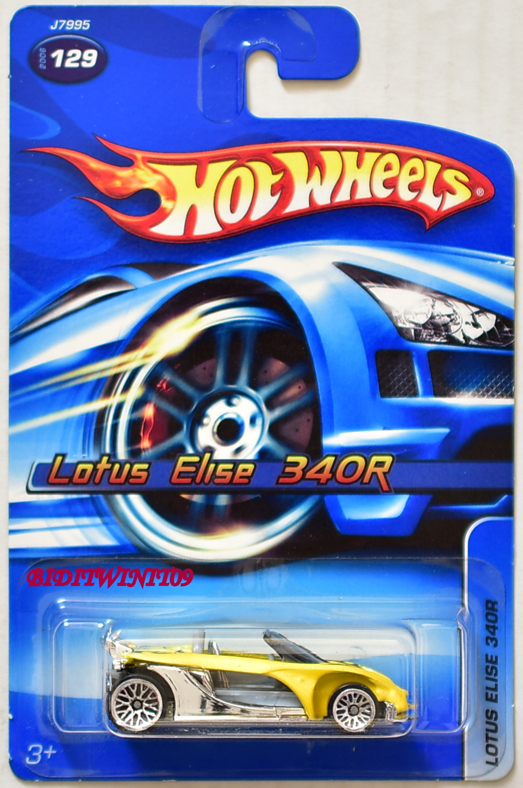 HOT WHEELS 2006 LOTUS ELISE 340R #129 YELLOW E+