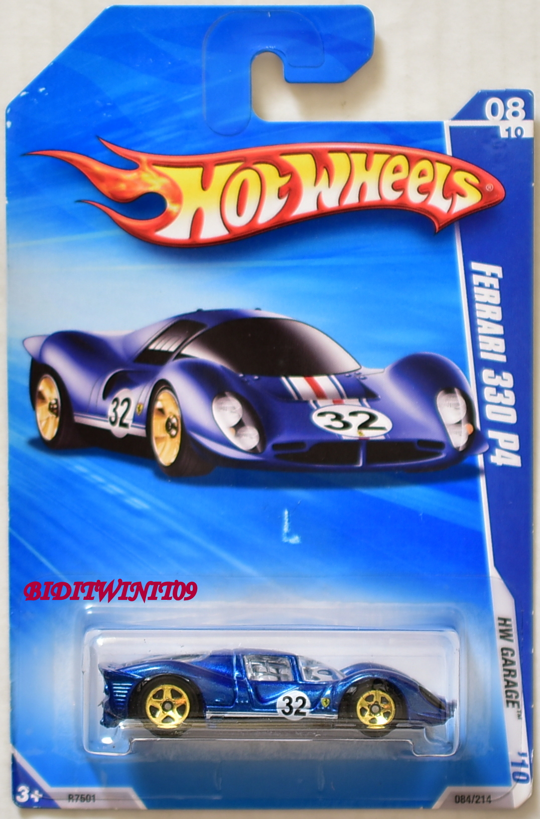 HOT WHEELS 2010 HW GARAGE FERRARI 330 P4 #08/10 BLUE E+