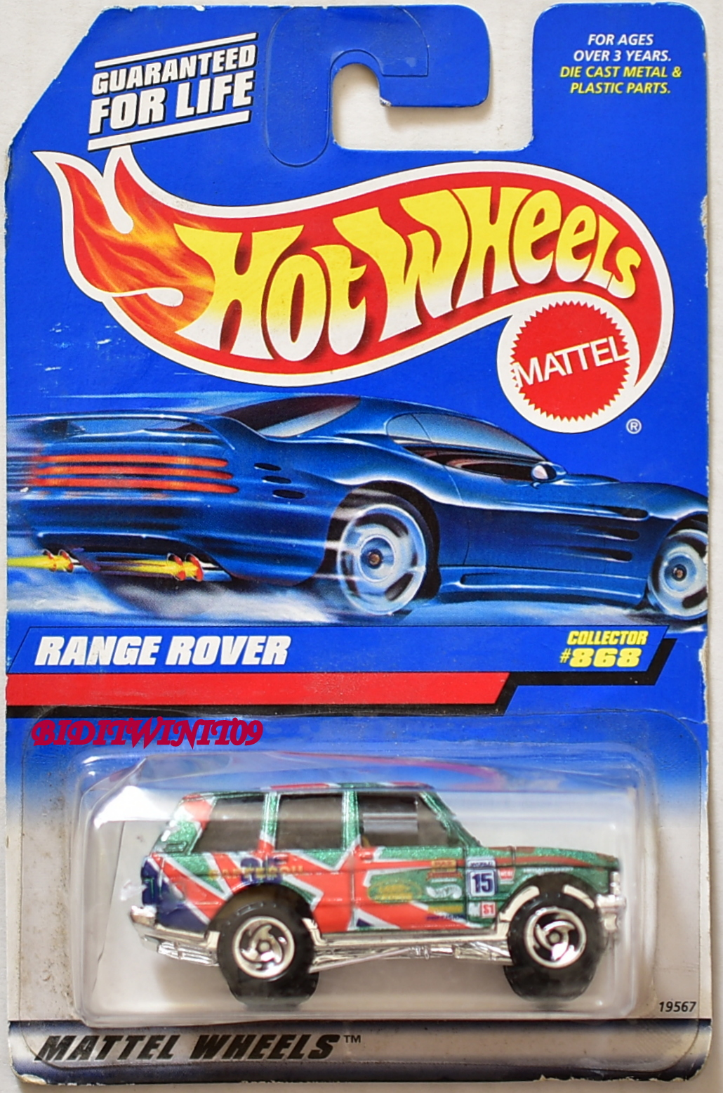 HOT WHEELS 1998 RANGE ROVER COLLECTOR #868