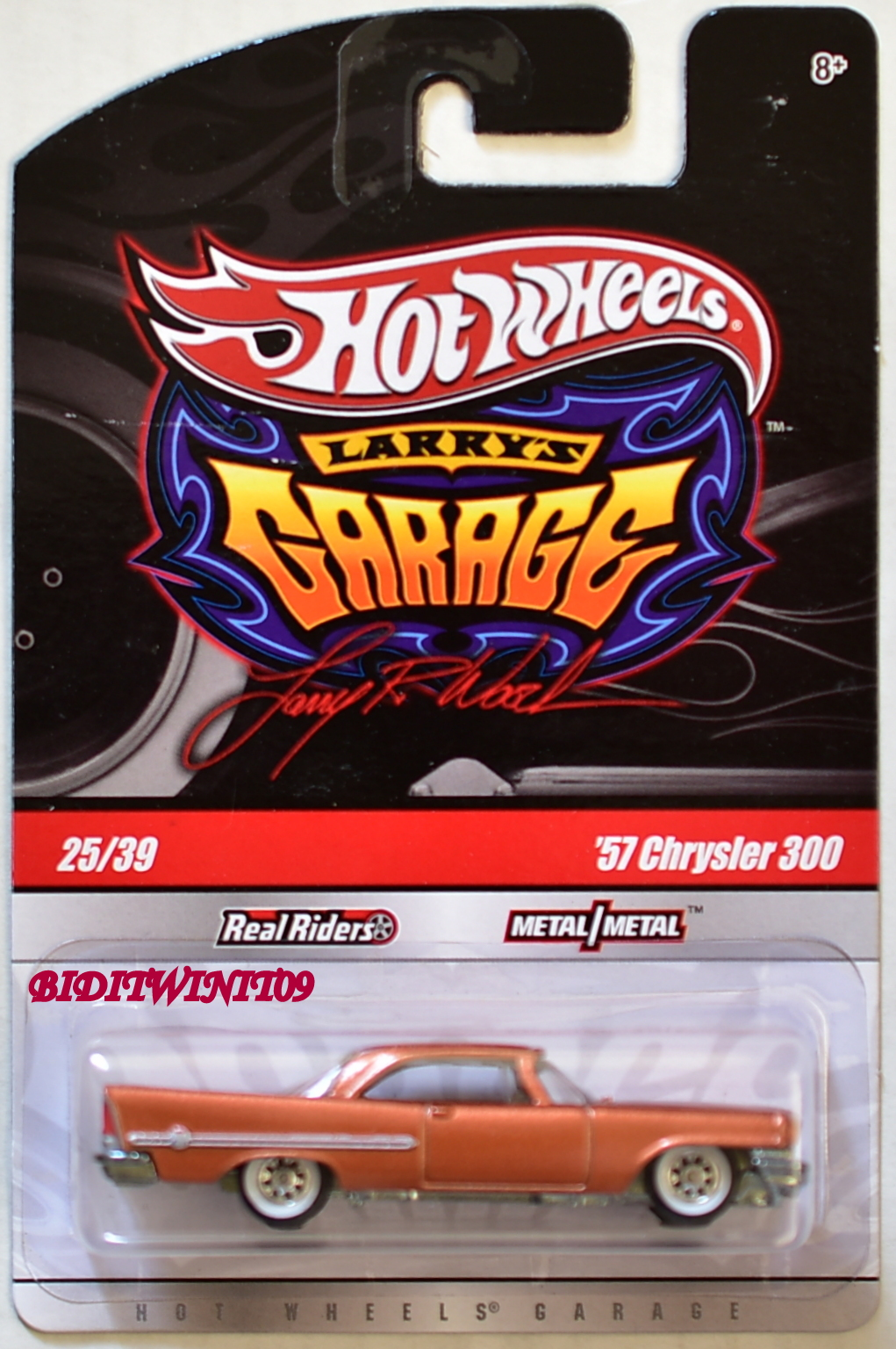 HOT WHEELS LARRYS GARAGE '57 CHRYSLER 300 #25/39 COPPER