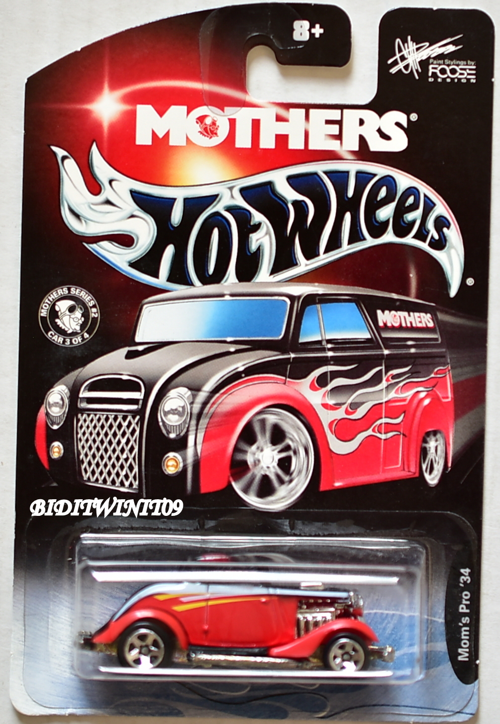 HOT WHEELS MOTHERS MOM'S PRO '34 FOOSE DESIGN