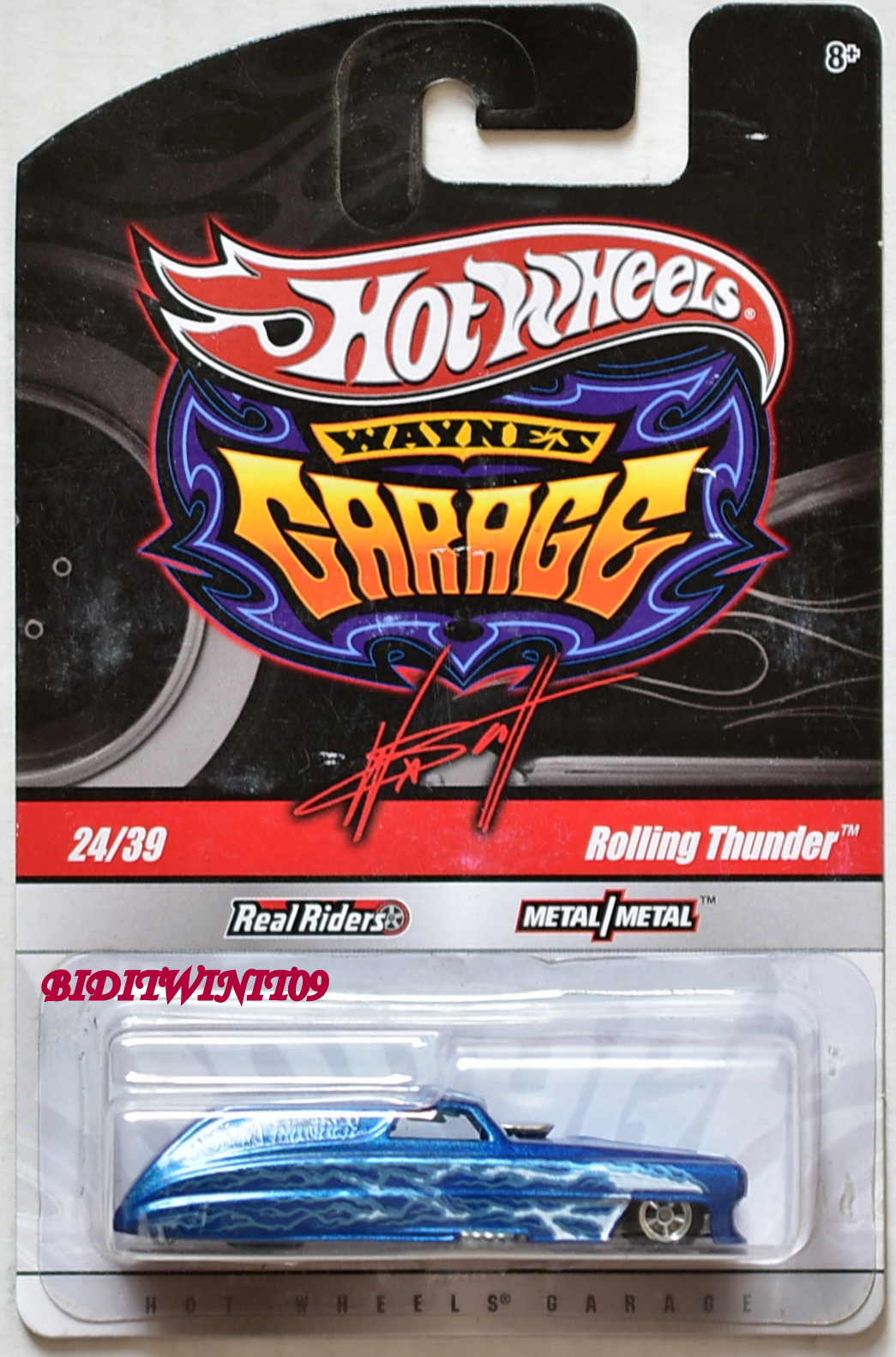HOT WHEELS WAYNE'S GARAGE ROLLING THUNDER #24/39 BLUE E+