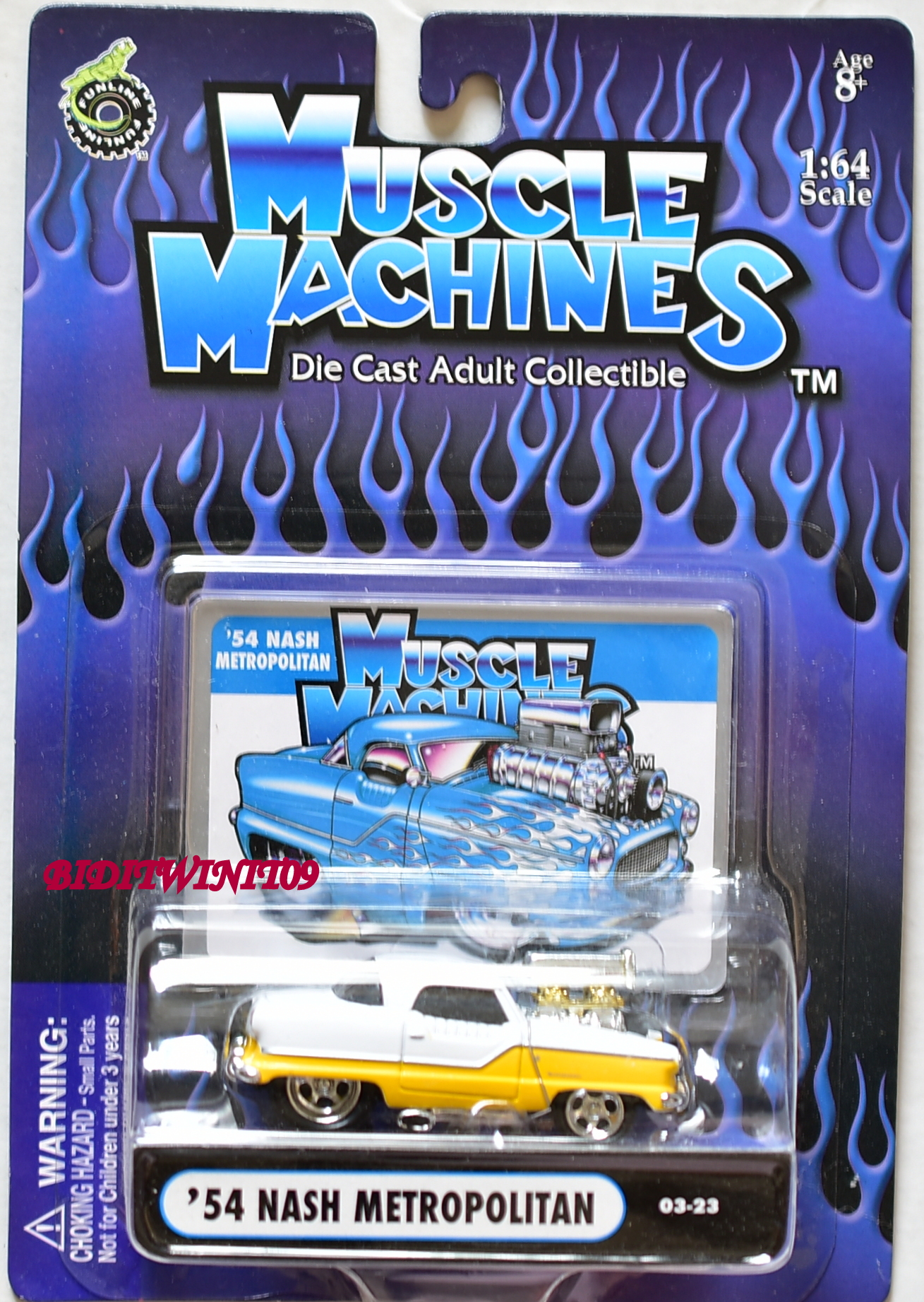 MUSCLE MACHINES '54 NASH METROPOLITAN 03-23 1:64 SCALE E+