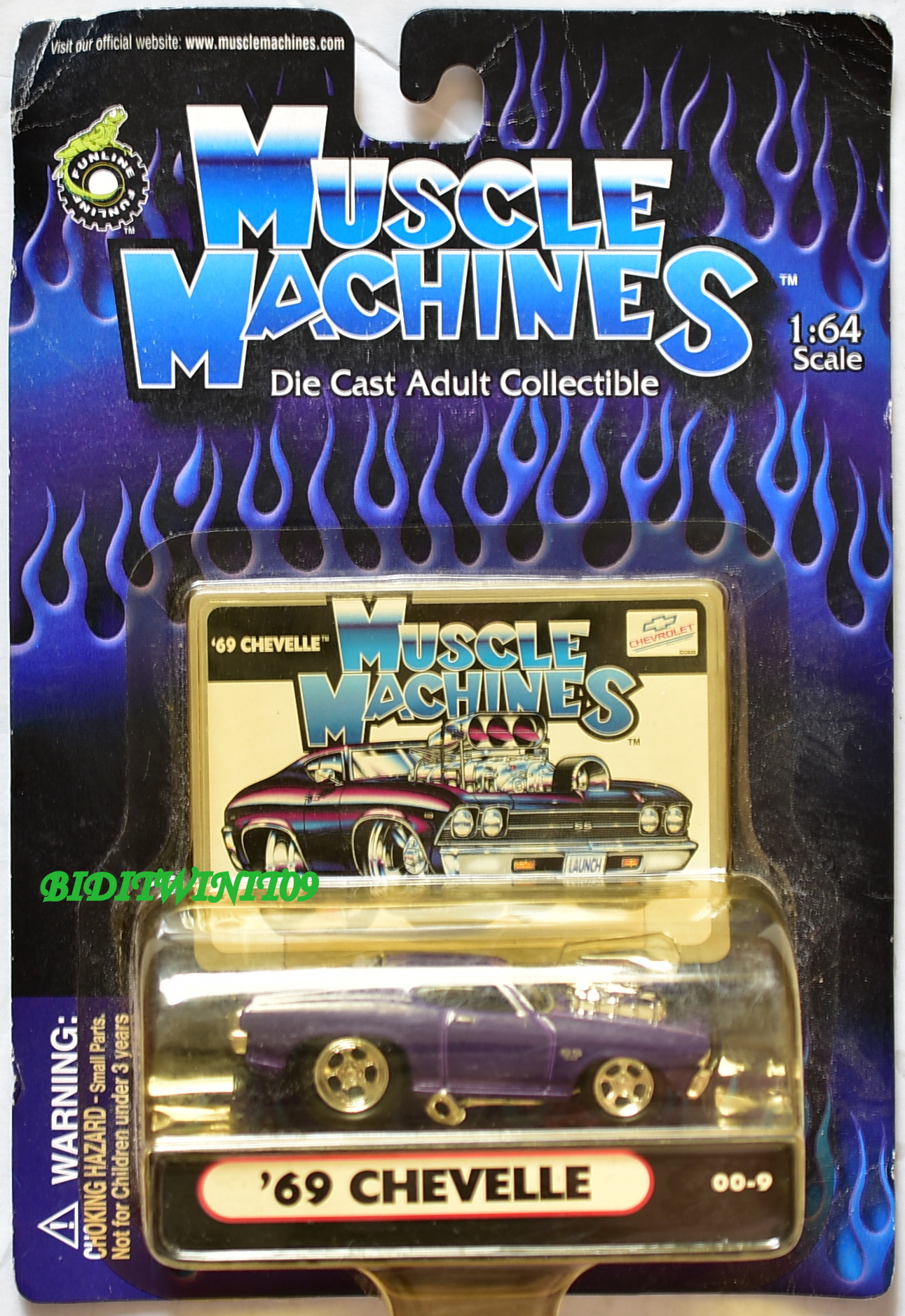 MUSCLE MACHINES '69 CHEVELLE 00-9 1:64 SCALE E+