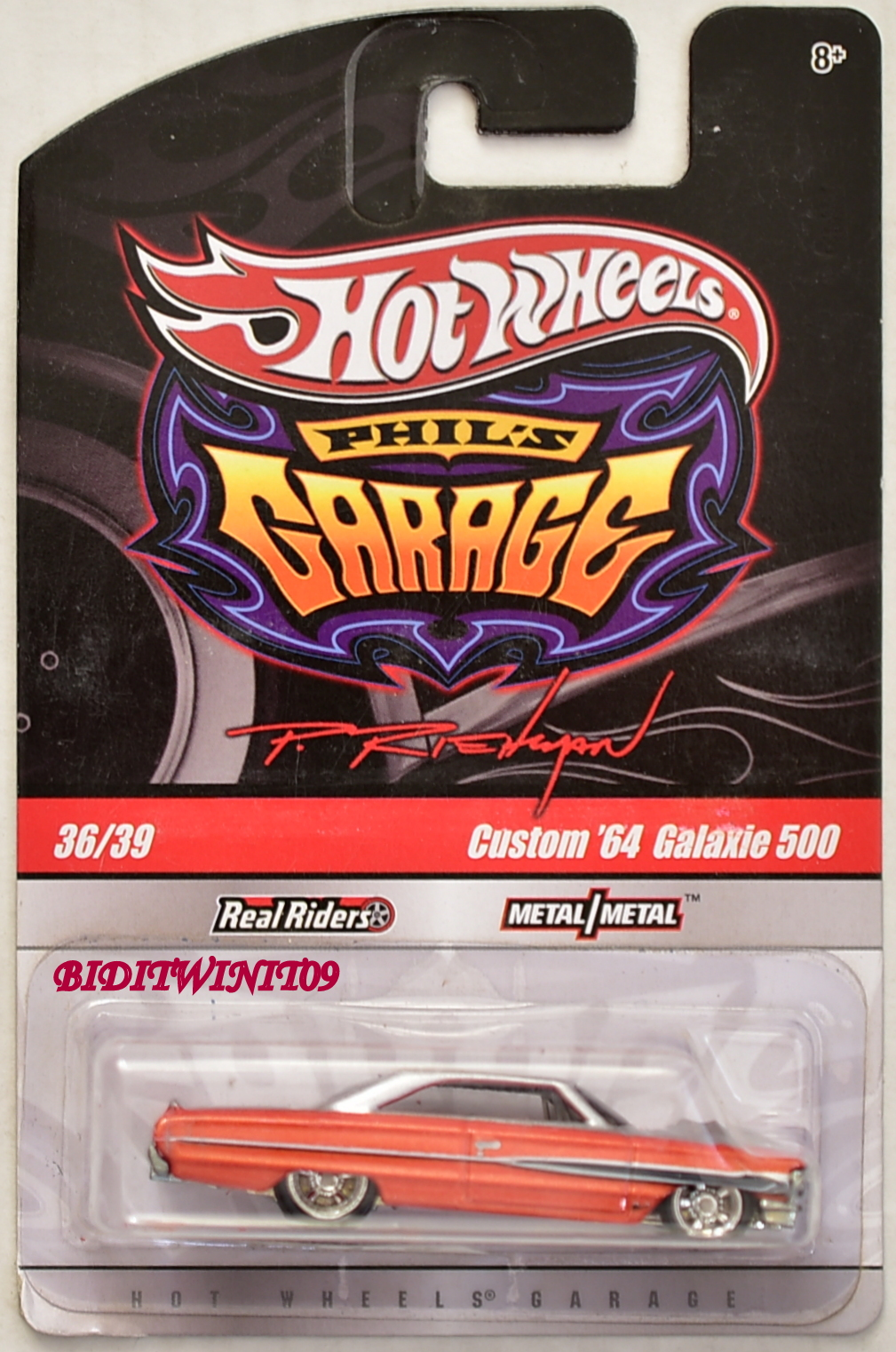 HOT WHEELS PHIL'S GARAGE CUSTOM '64 GALAXIE 500 #36/39 ORANGE